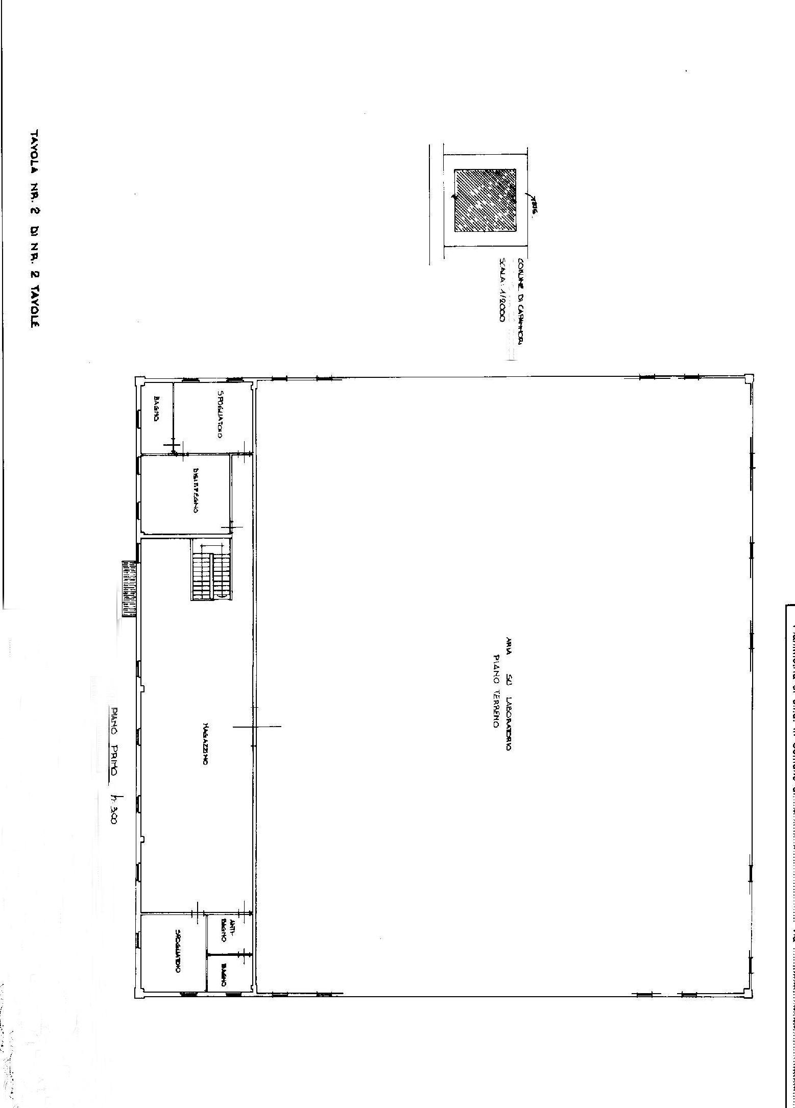 Planimetria 2/2 per rif. F004S