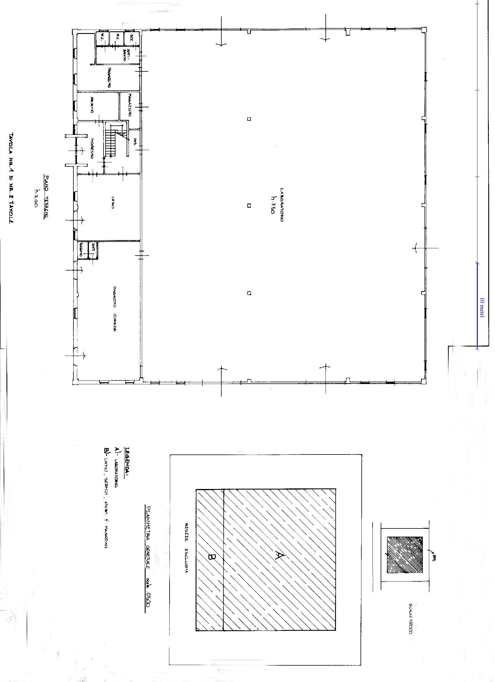 Planimetria 1/2 per rif. F004S