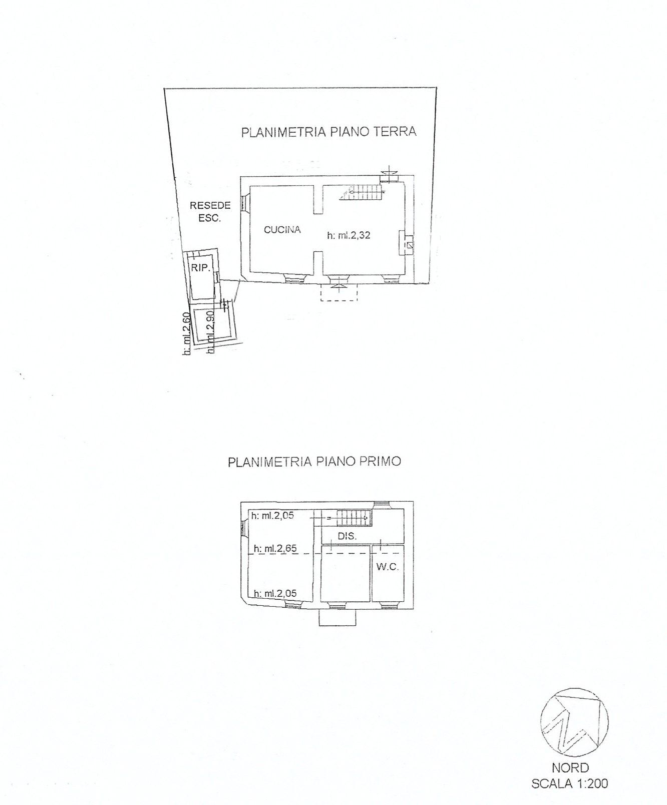 Planimetria 1/1 per rif. E015P