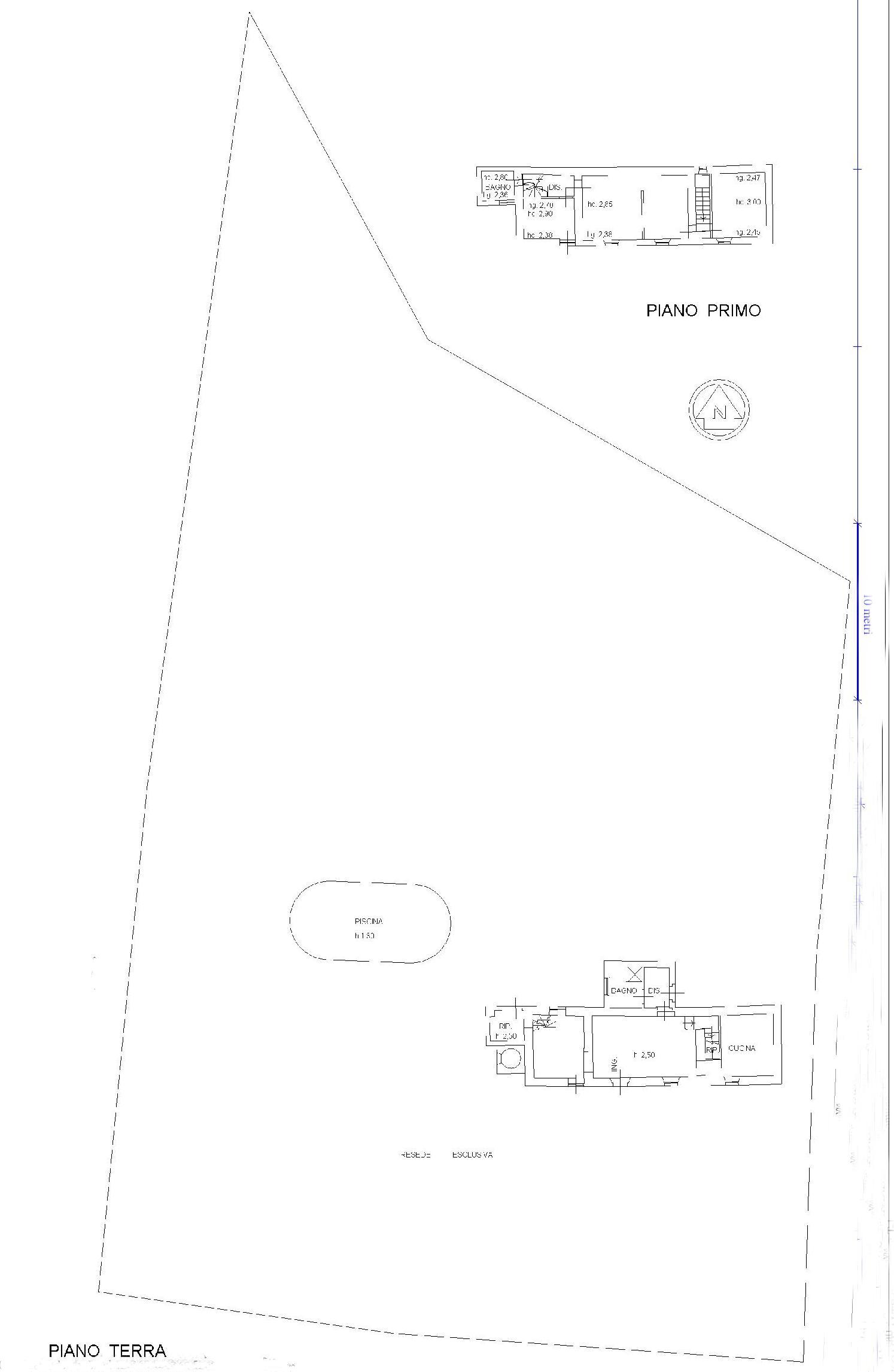 Planimetria 1/2 per rif. E003J