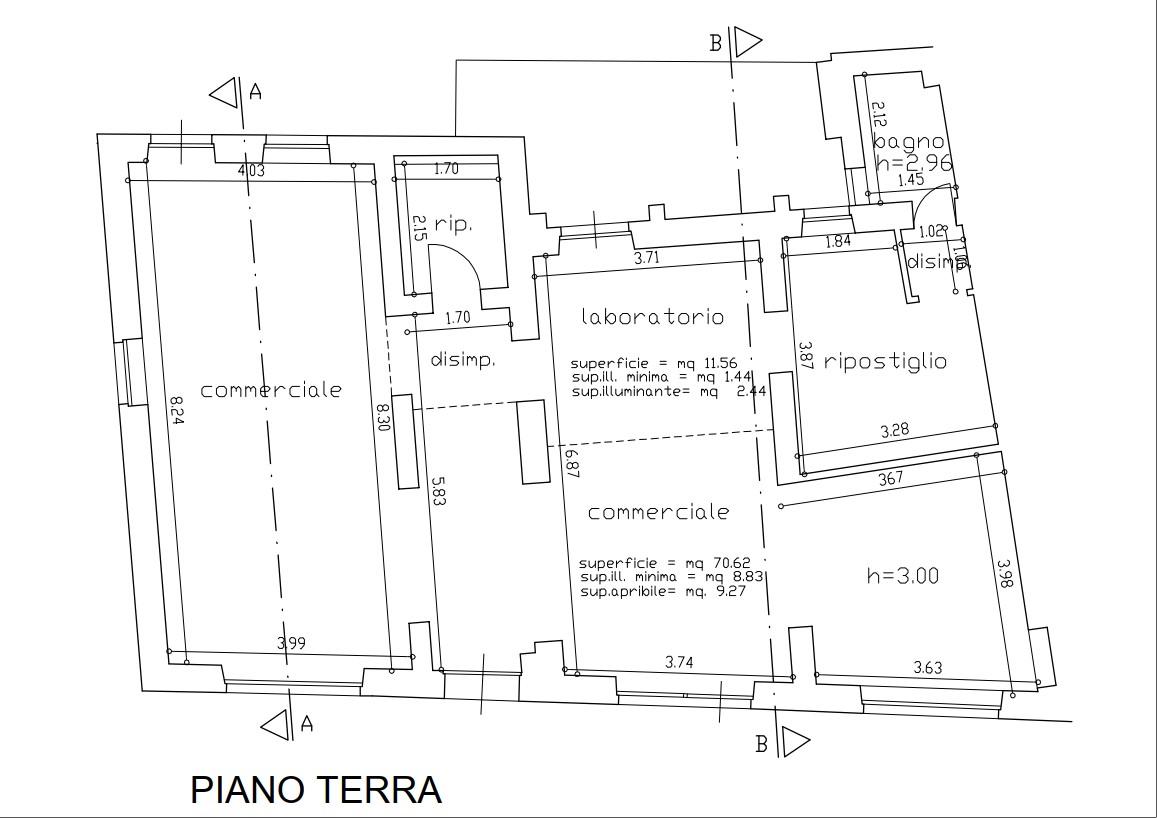 Planimetria 1/1 per rif. F005R