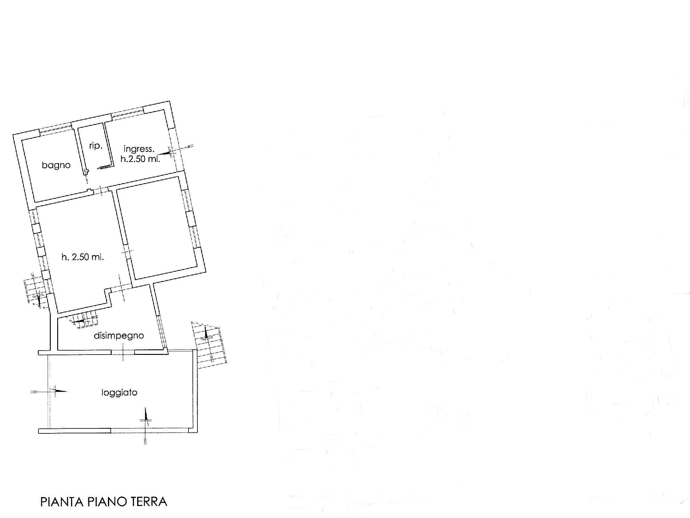 Planimetria 1/3 per rif. E001H
