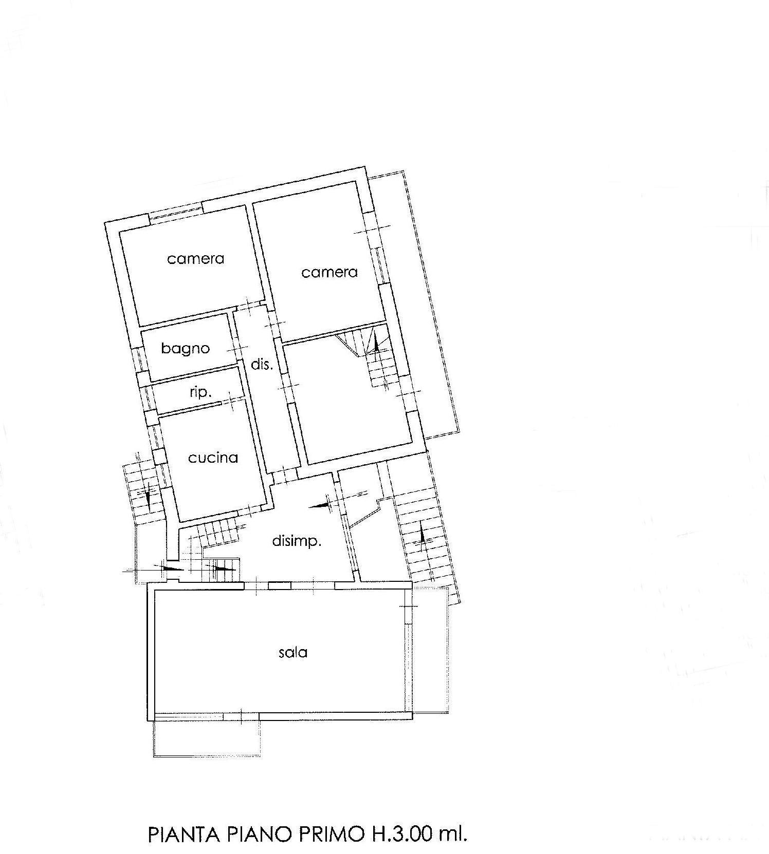 Planimetria 2/3 per rif. E001H