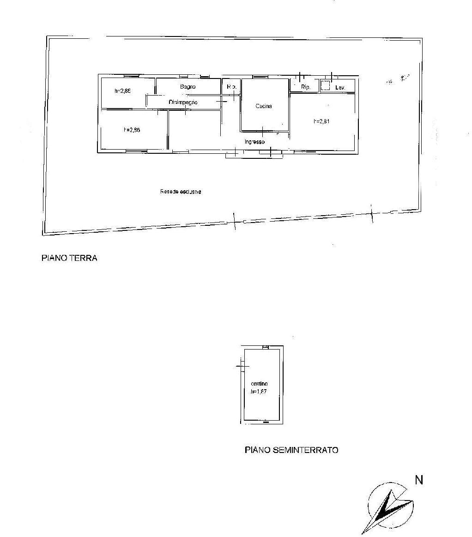 Planimetria 1/1 per rif. E022J