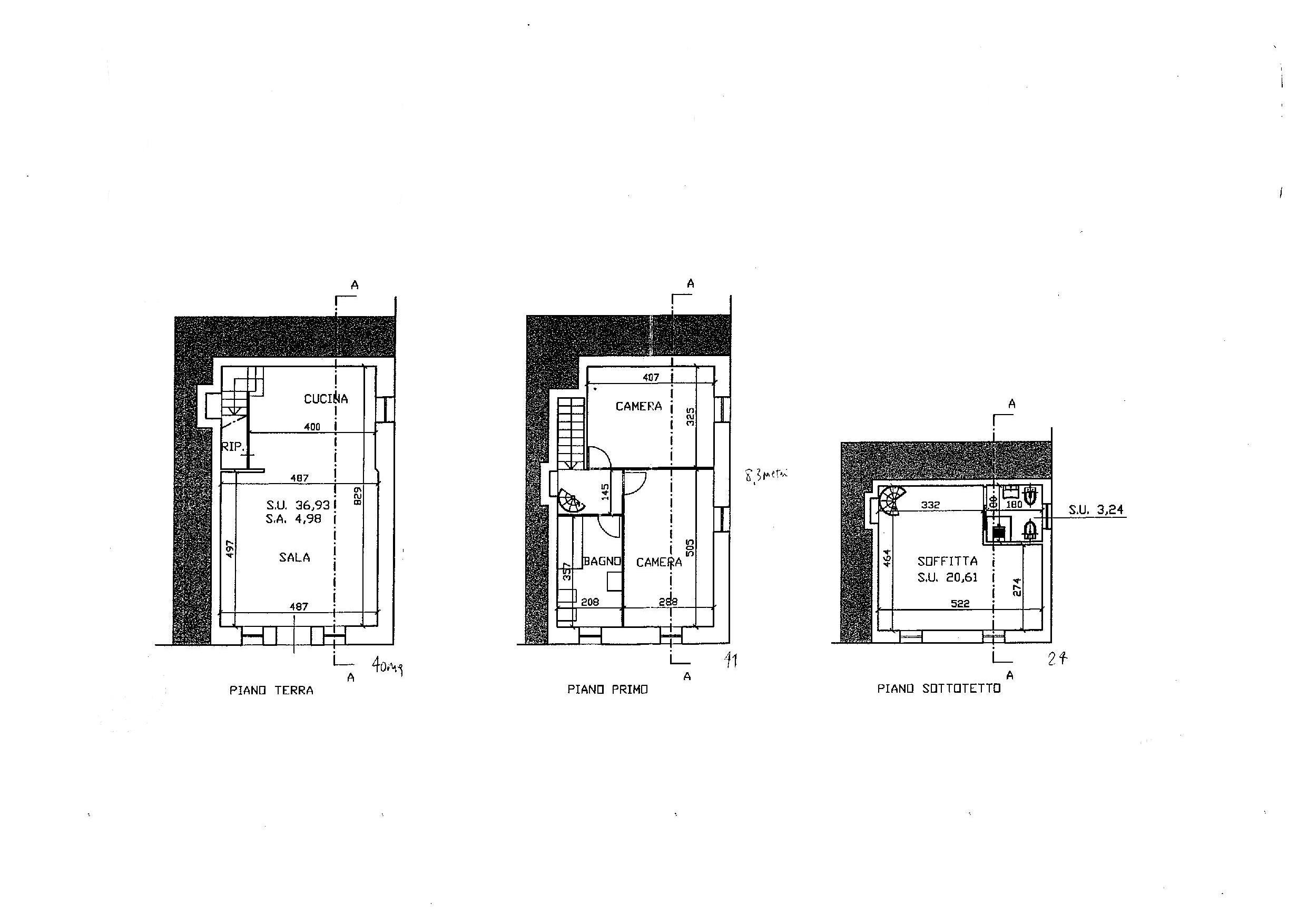 Planimetria 1/1 per rif. E019P
