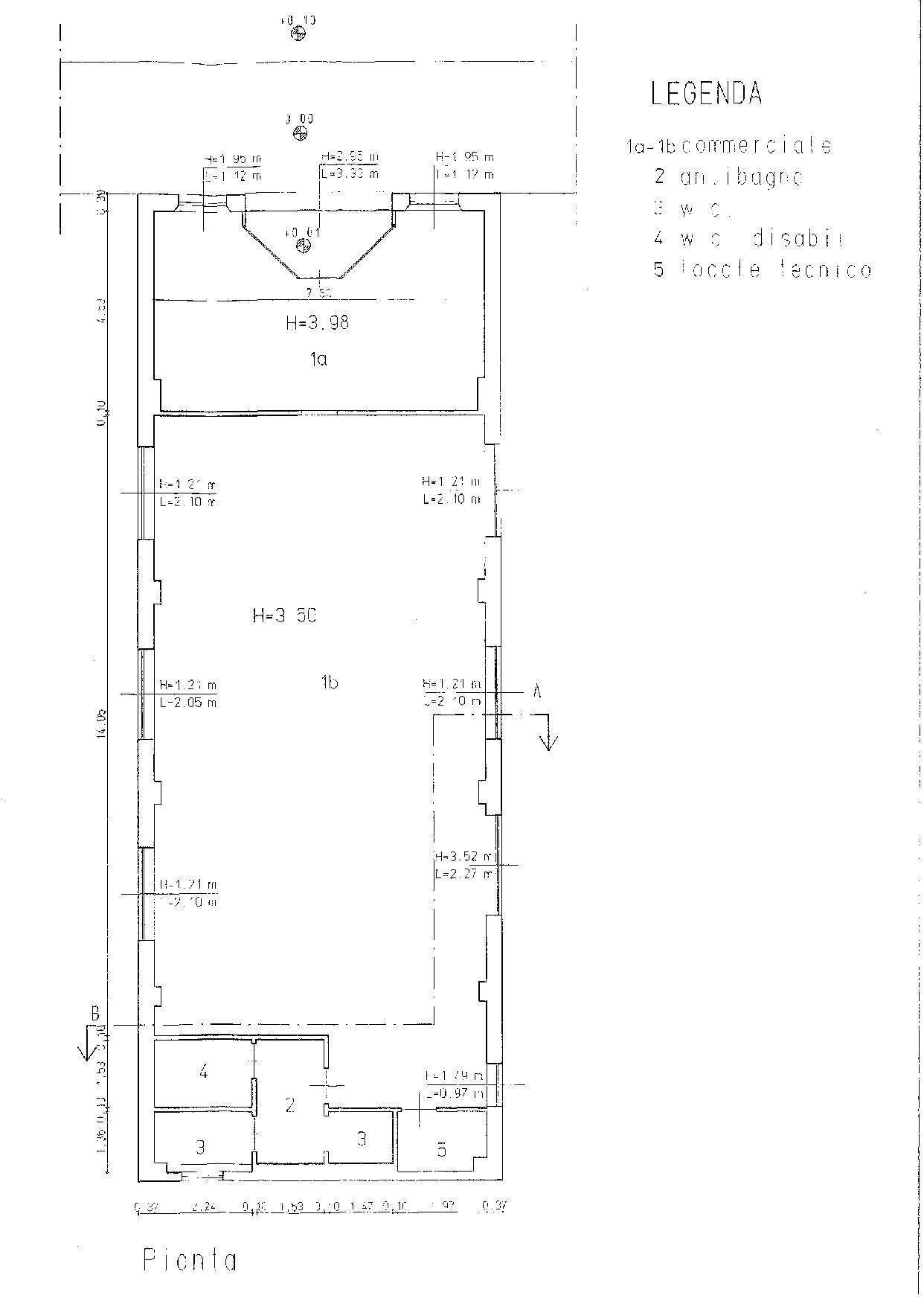 Planimetria 1/1 per rif. F055S
