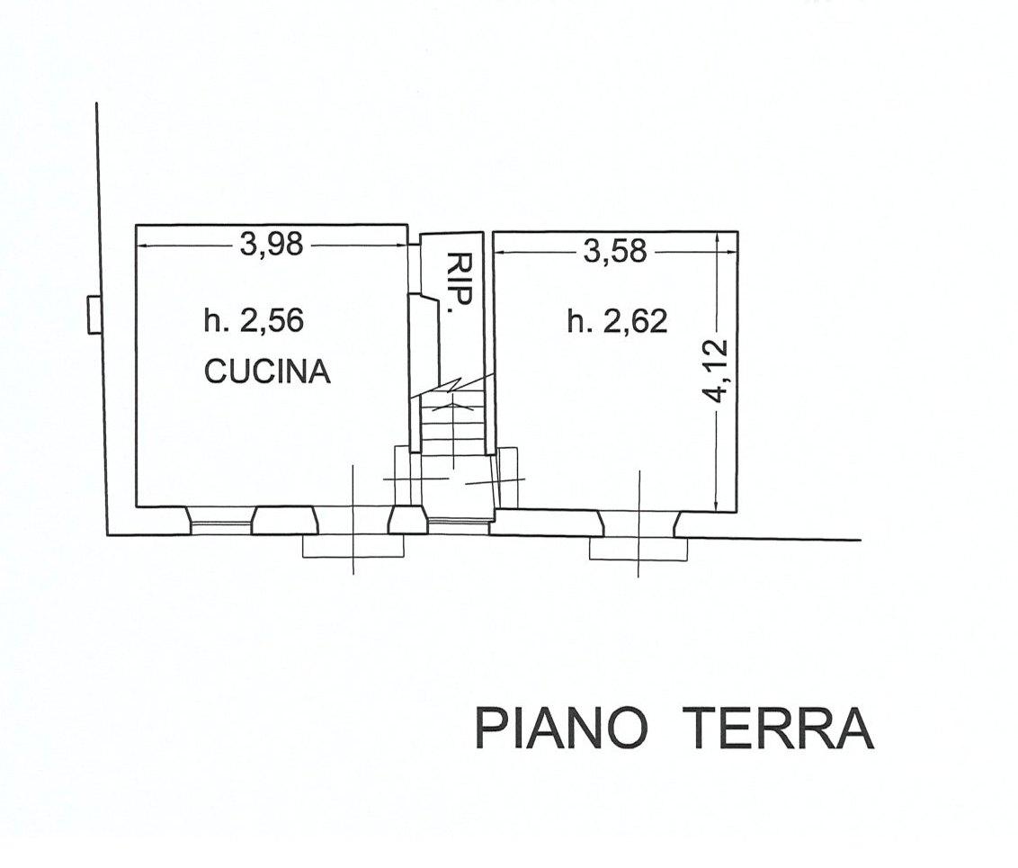 Planimetria 1/3 per rif. E078J