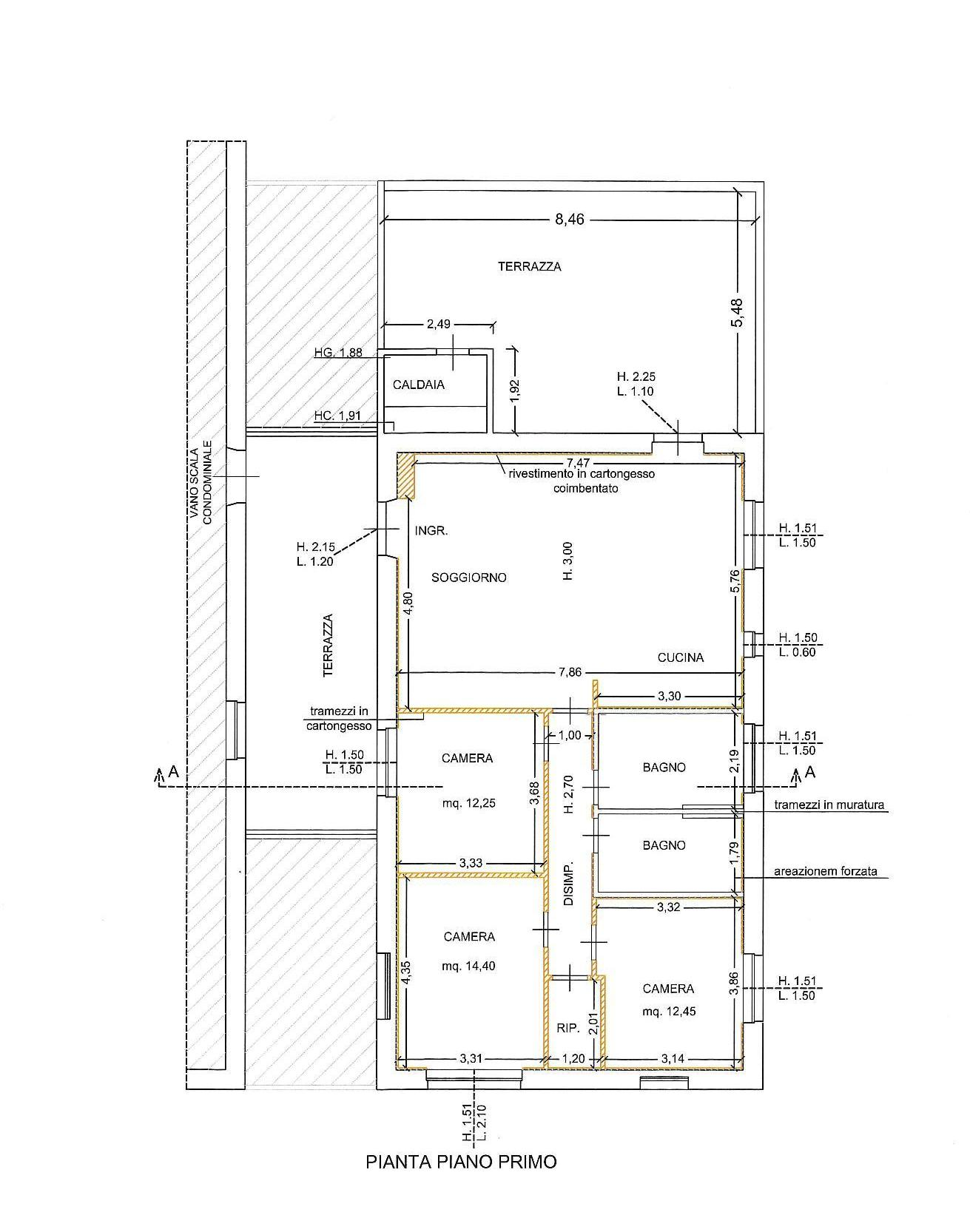 Planimetria 1/1 per rif. E010H