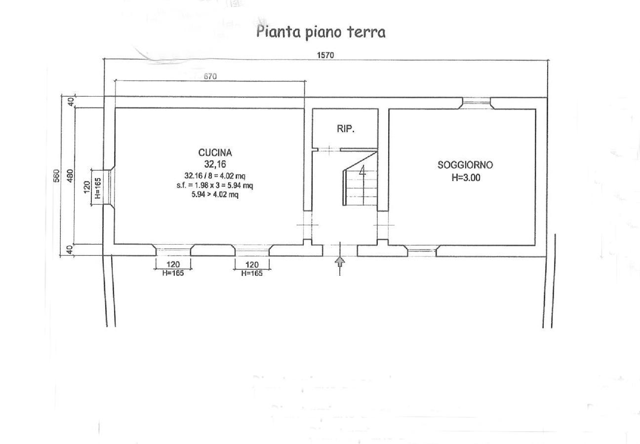 Planimetria 1/5 per rif. E024P