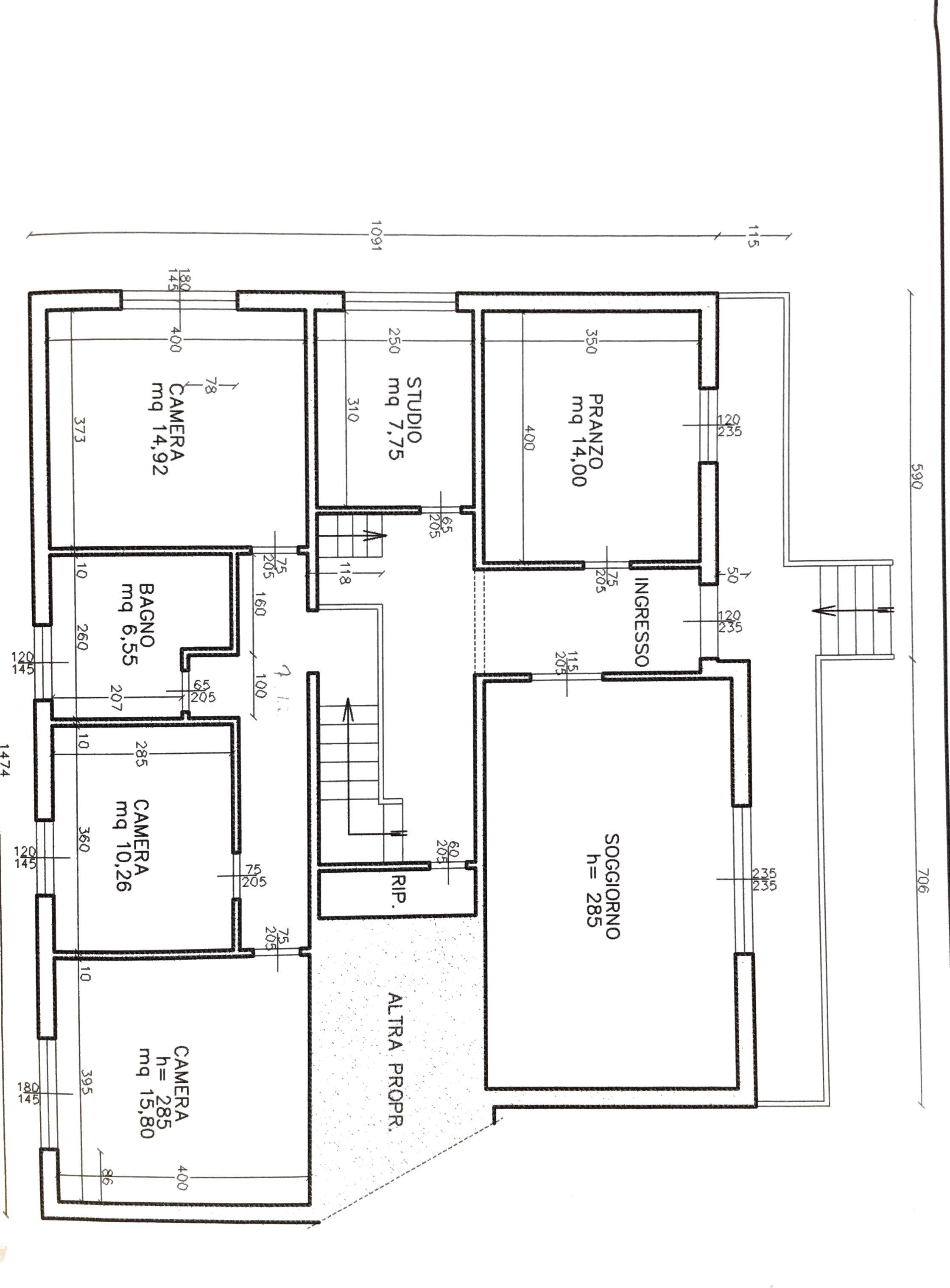 Planimetria 1/2 per rif. NCX153