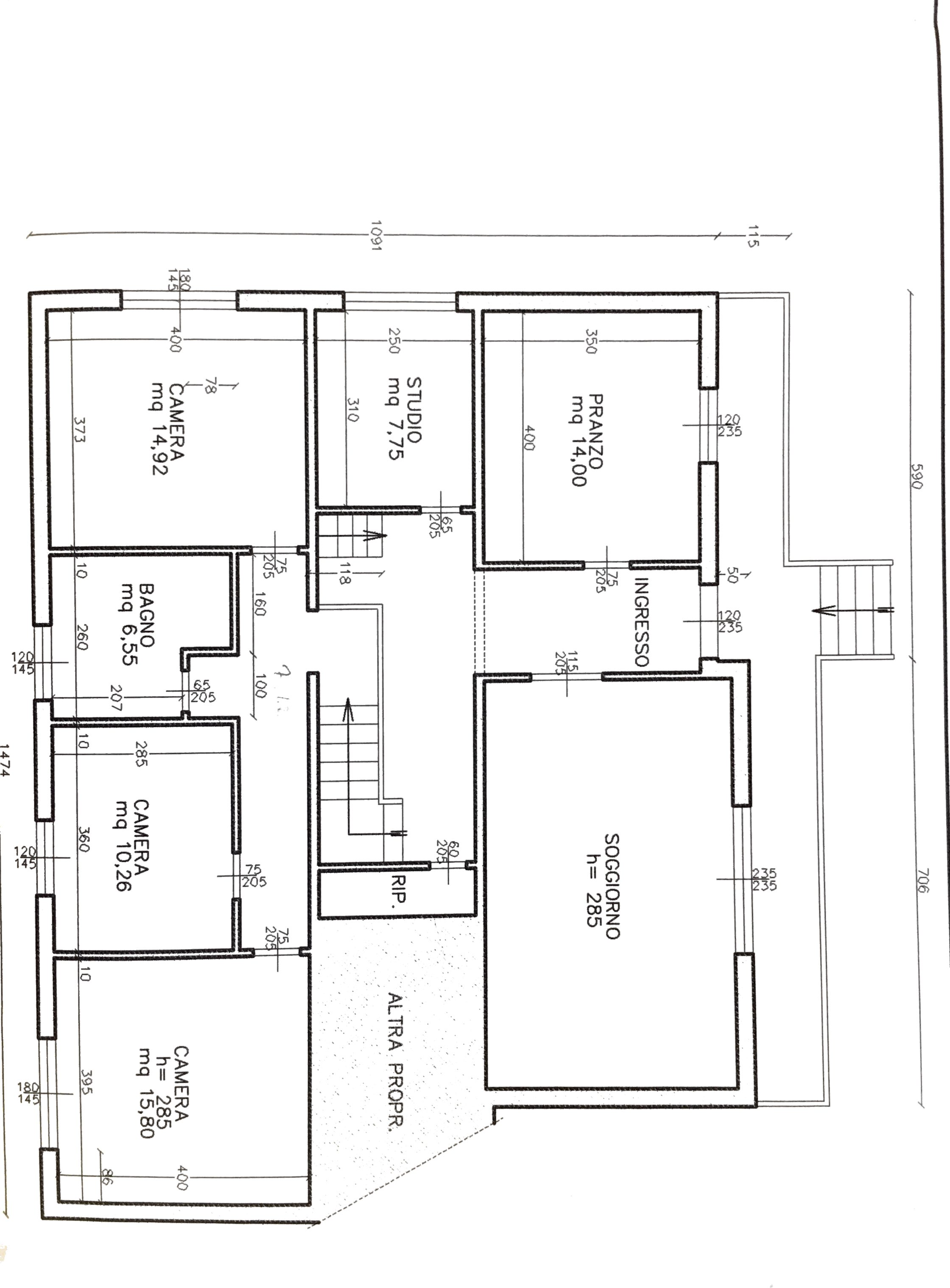 Planimetria 1/2 per rif. 456