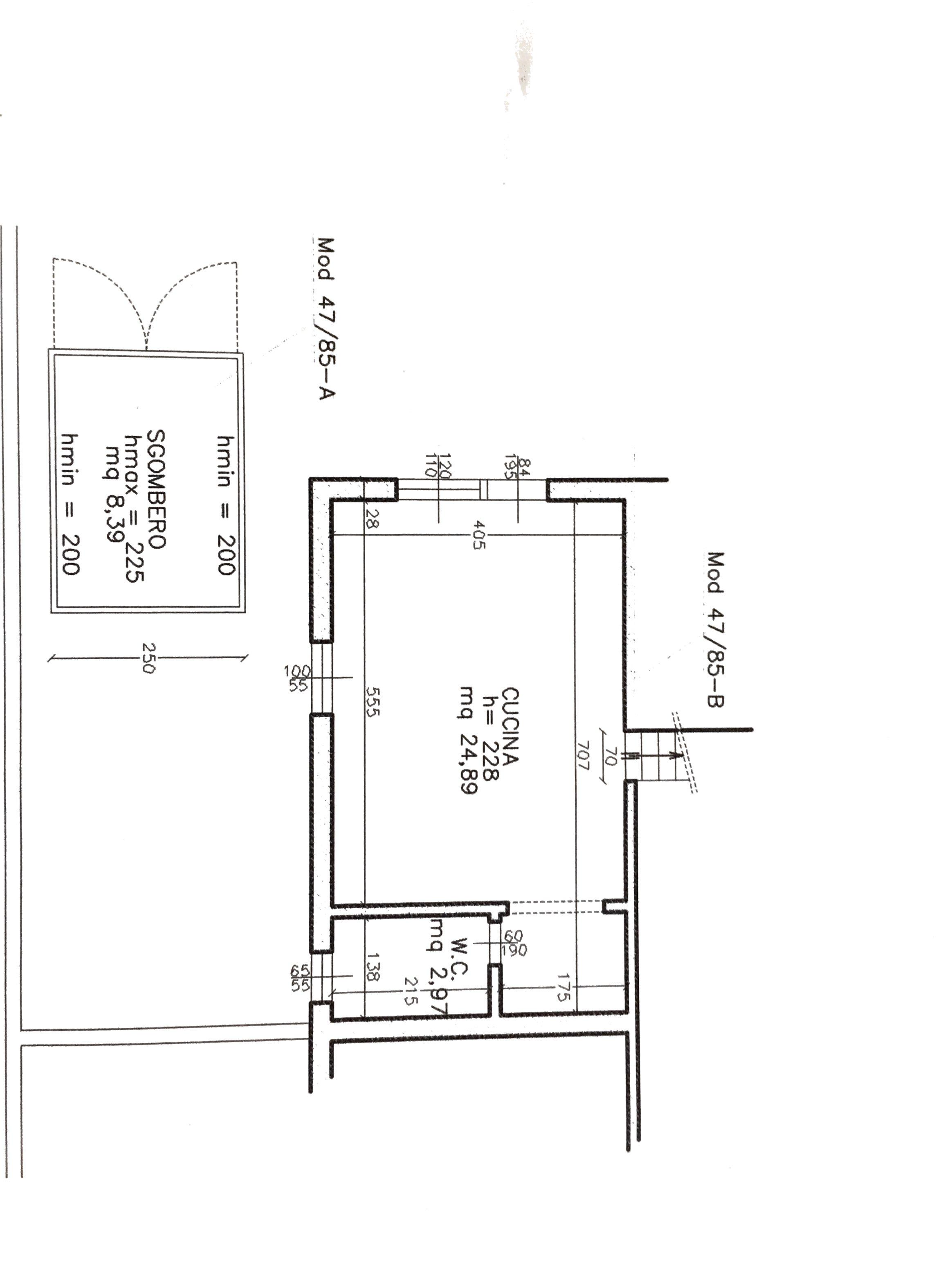 Planimetria 2/2 per rif. NCX153
