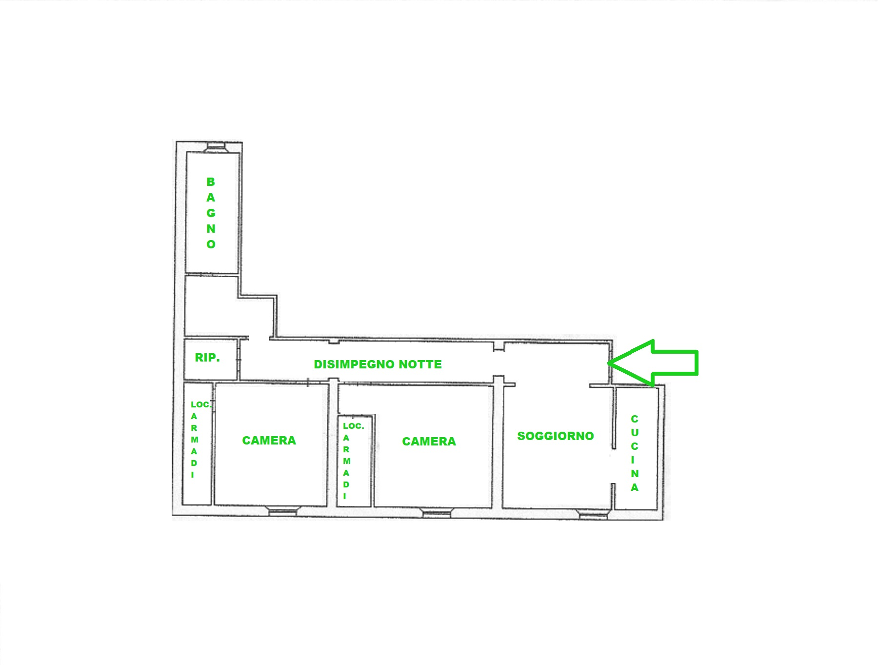 Planimetria 1/1 per rif. 407/B