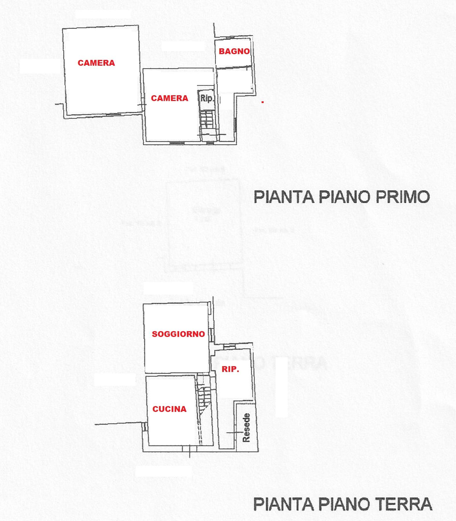 Planimetria 1/2 per rif. 409/b