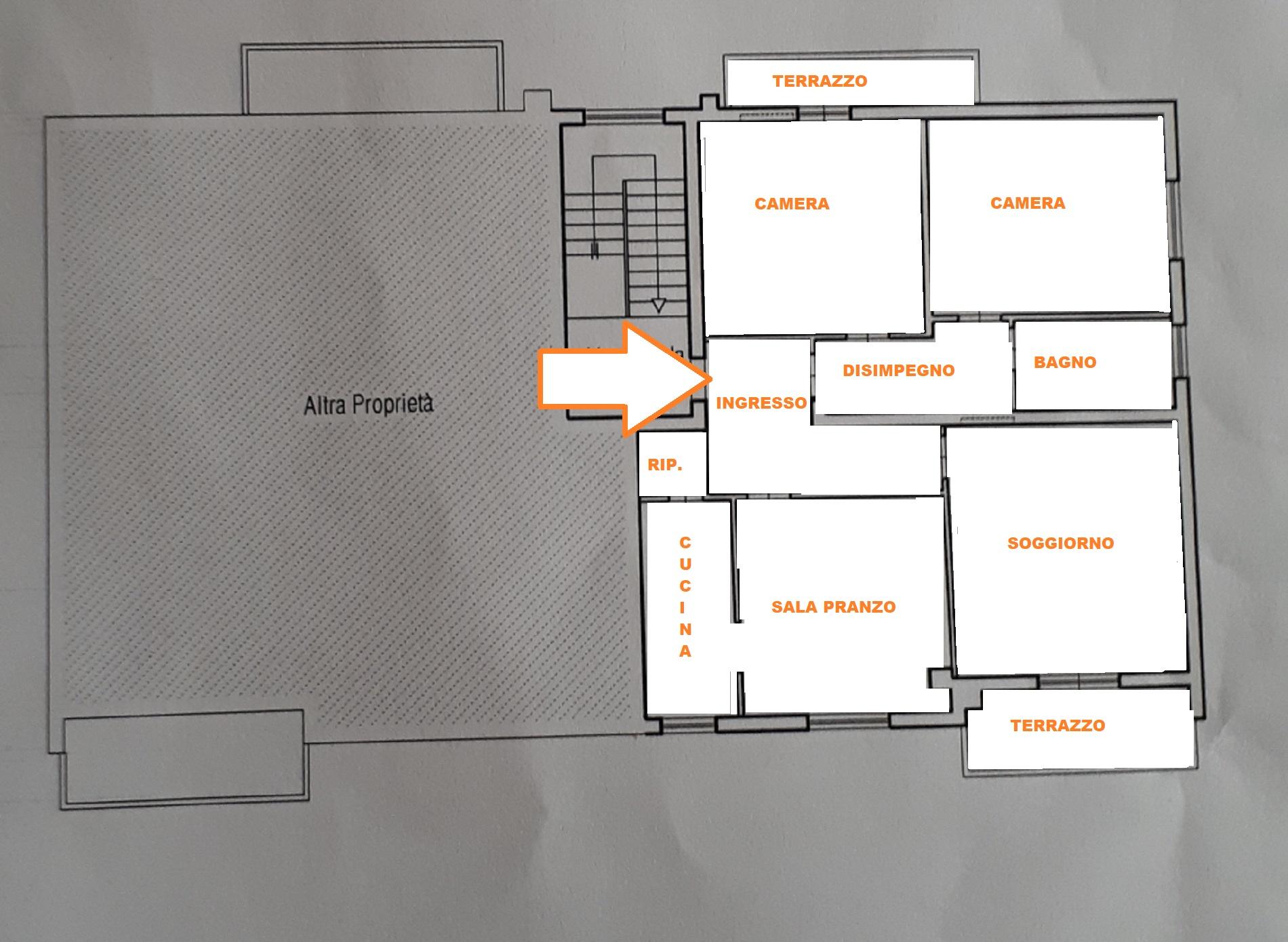Planimetria 1/2 per rif. 412/B