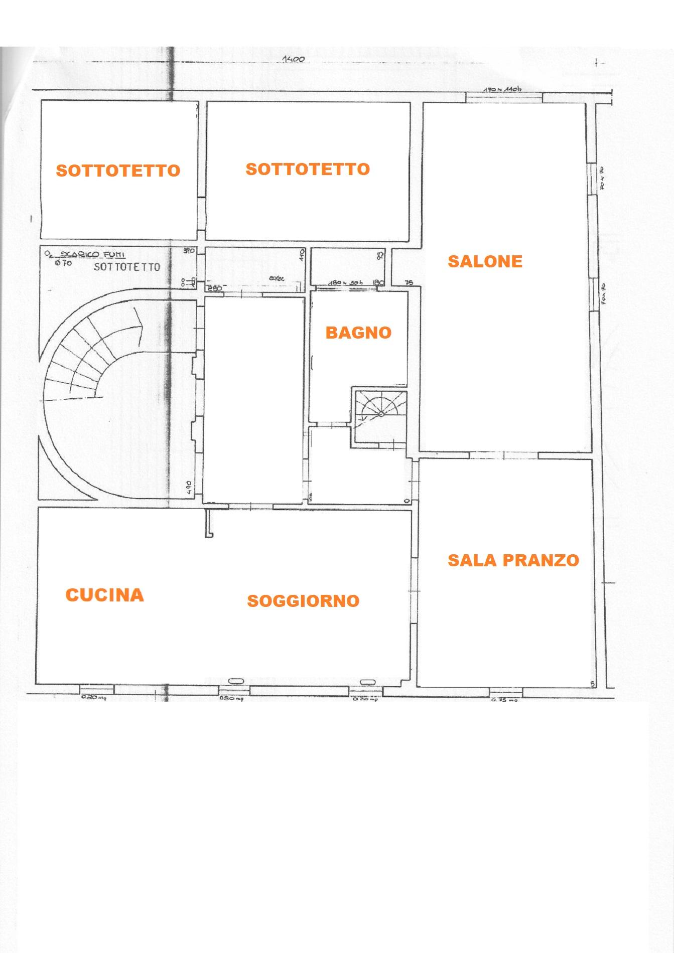 Planimetria 3/4 per rif. 627/a