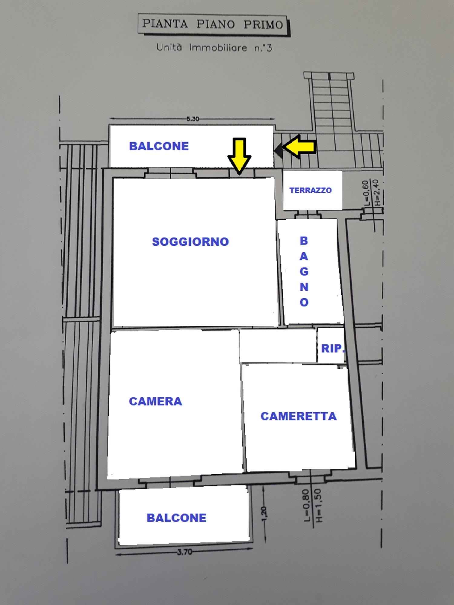 Planimetria 1/1 per rif. 415/B