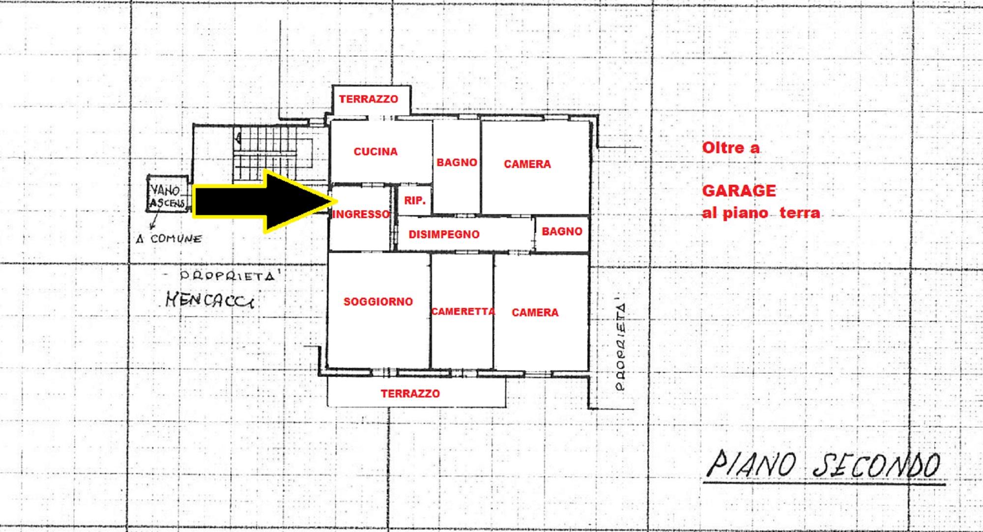 Planimetria 1/1 per rif. 629/A