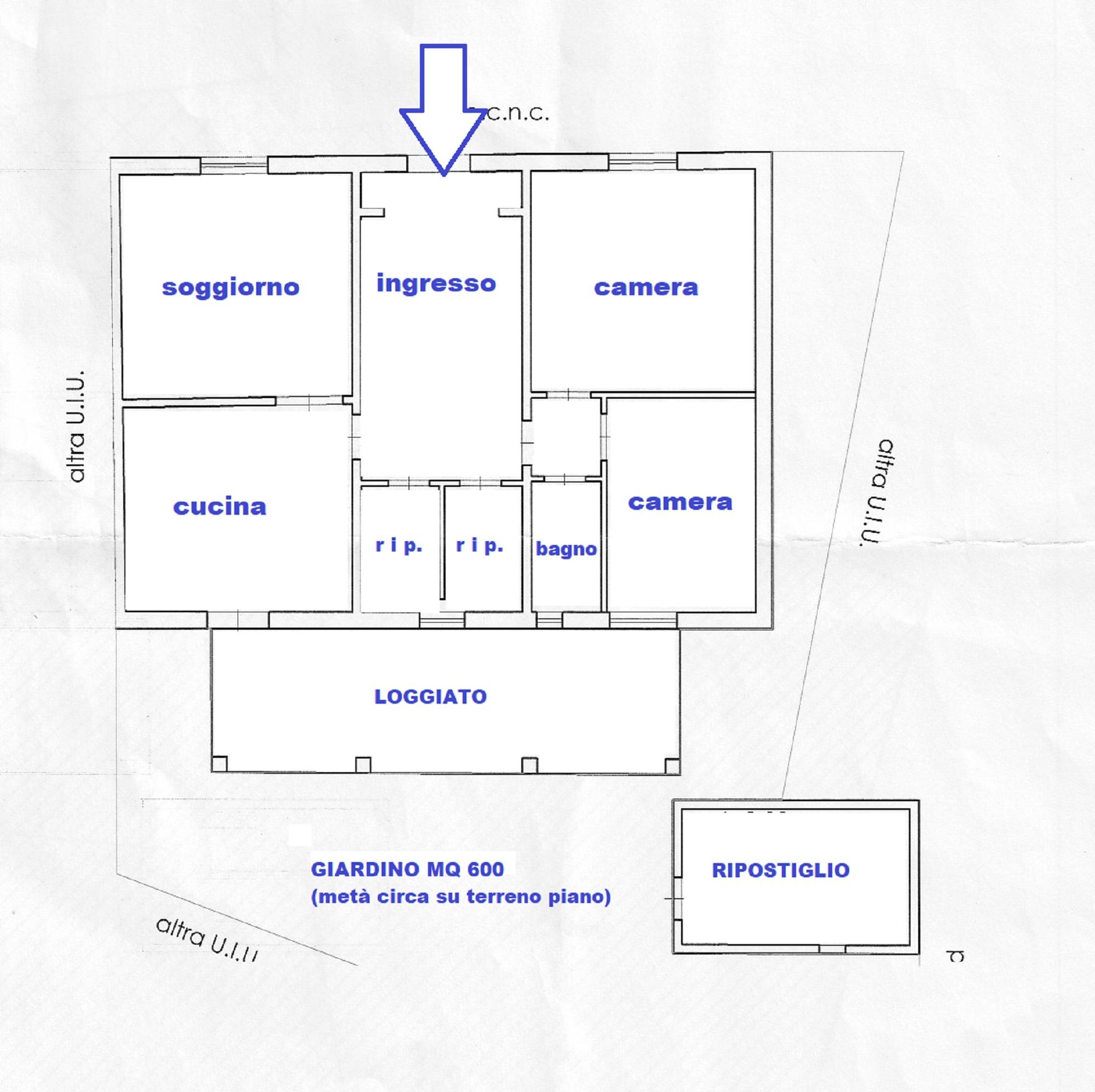 Planimetria 1/2 per rif. 417/B