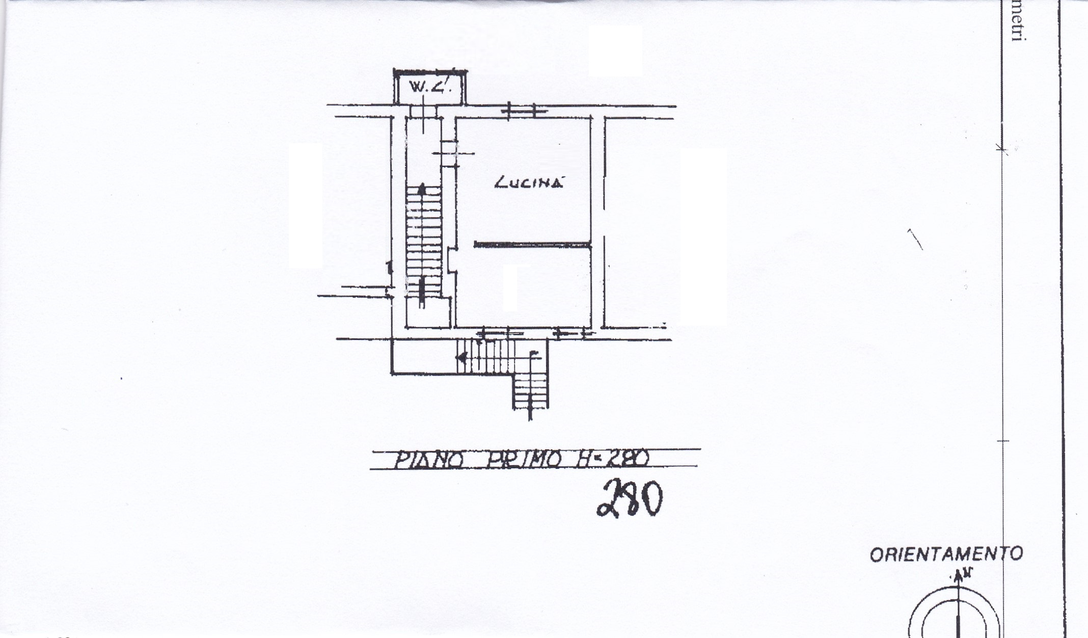 Planimetria /1 per rif. Z134