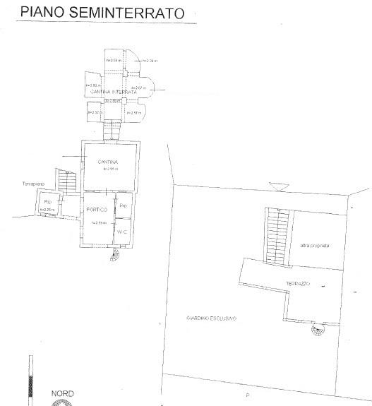 Planimetria 1/2 per rif. 1687a