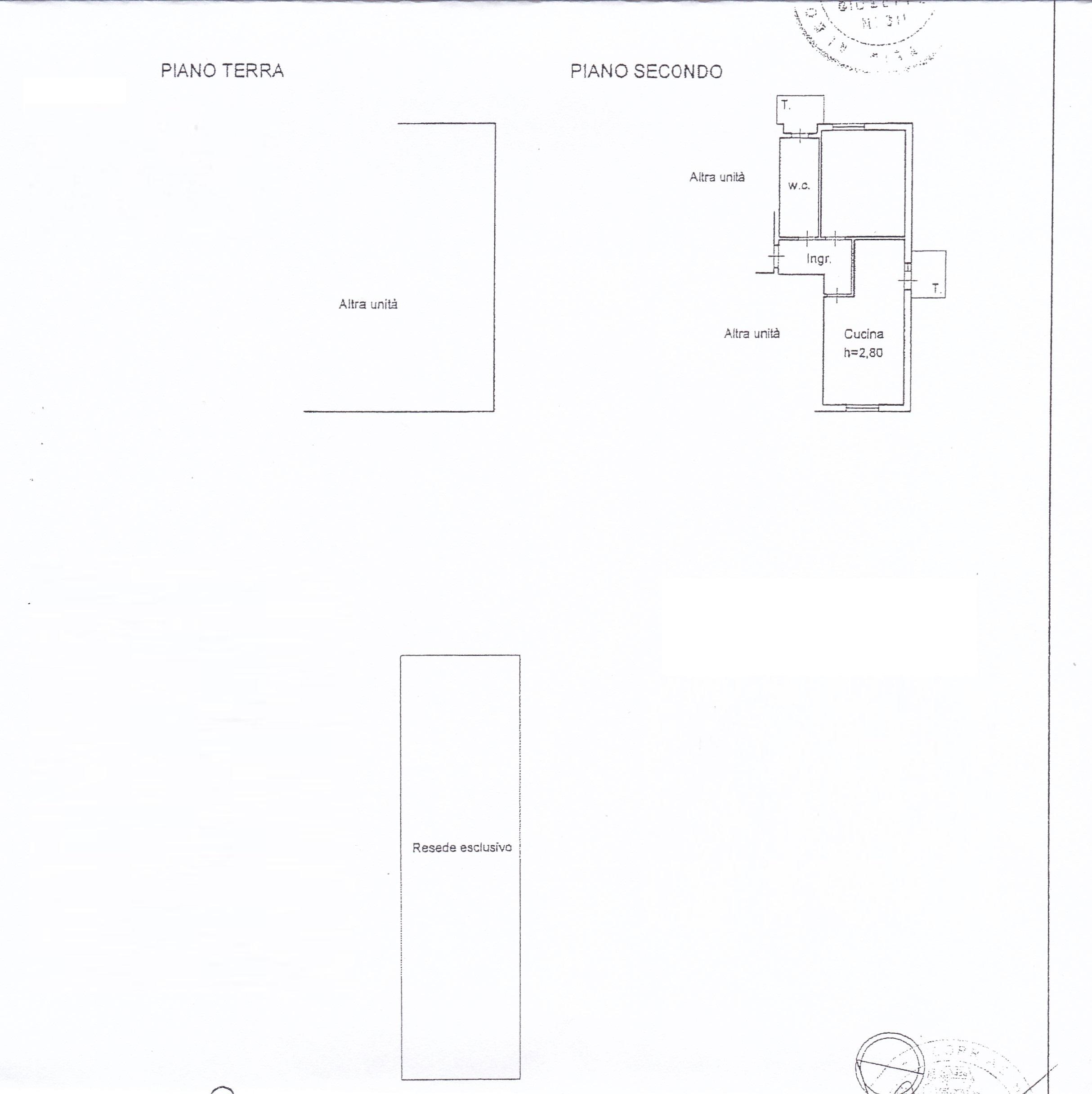 Planimetria 1/2 per rif. 1707a
