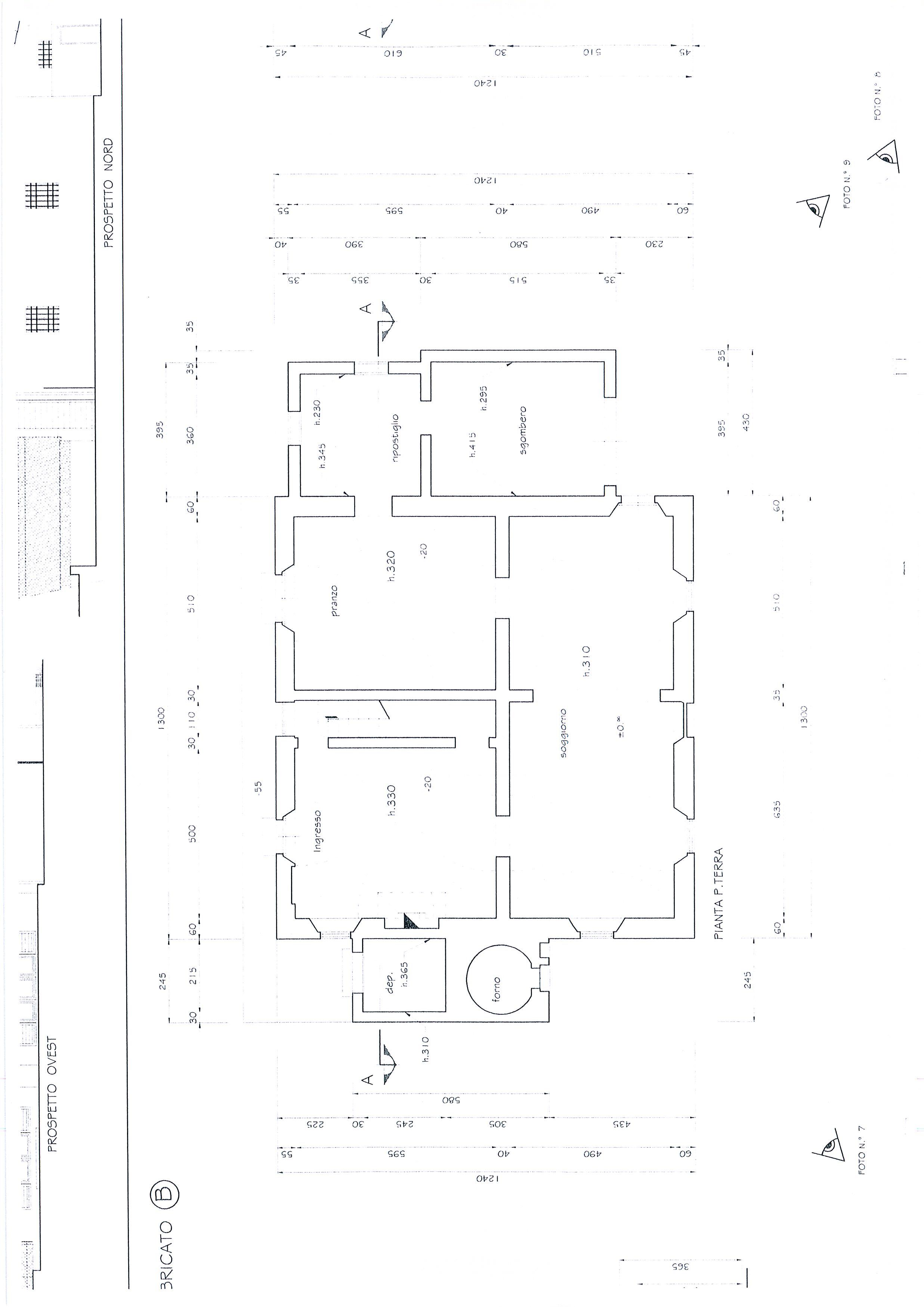 Planimetria 4/7 per rif. 1328a