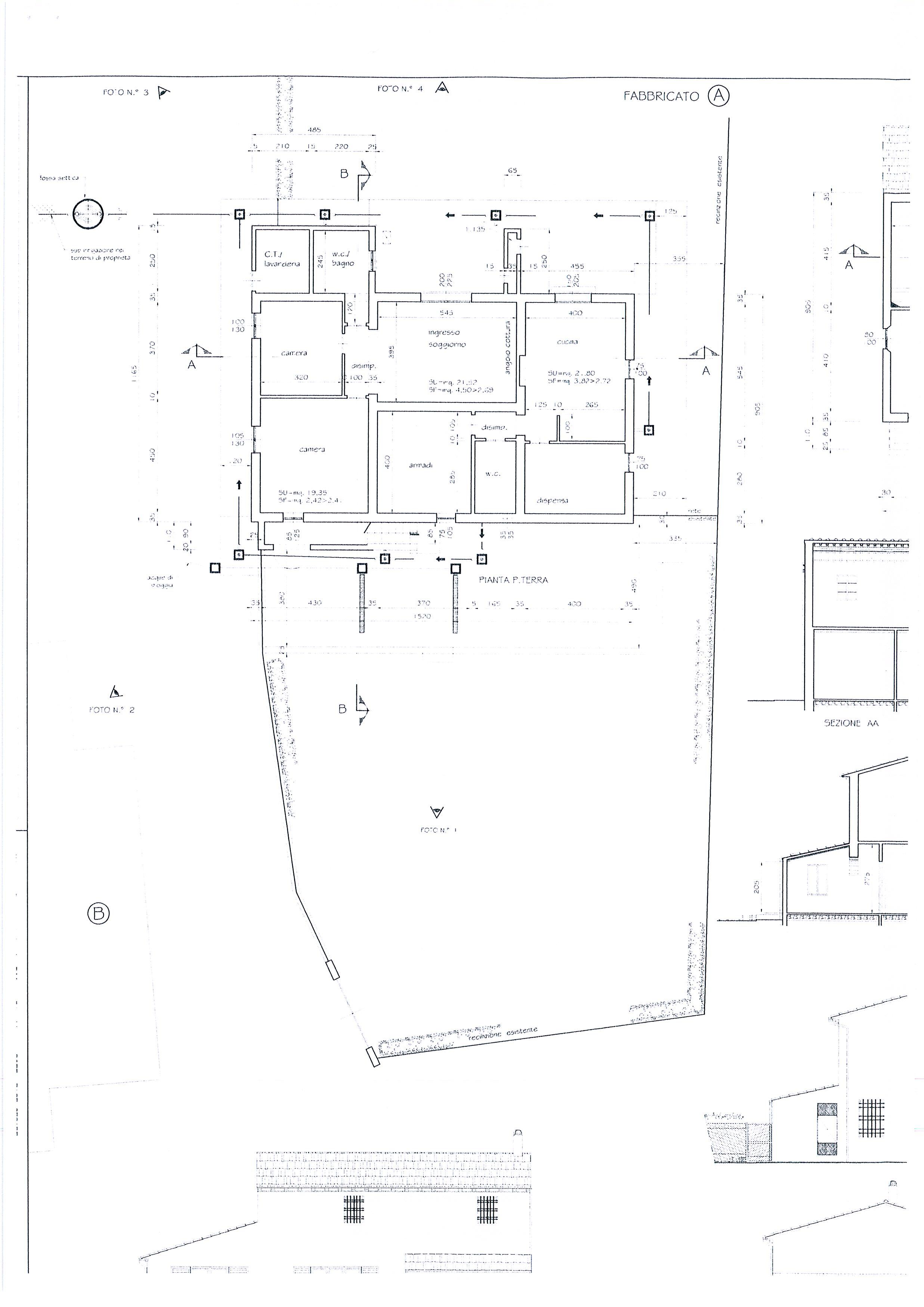 Planimetria 1/7 per rif. 1328a