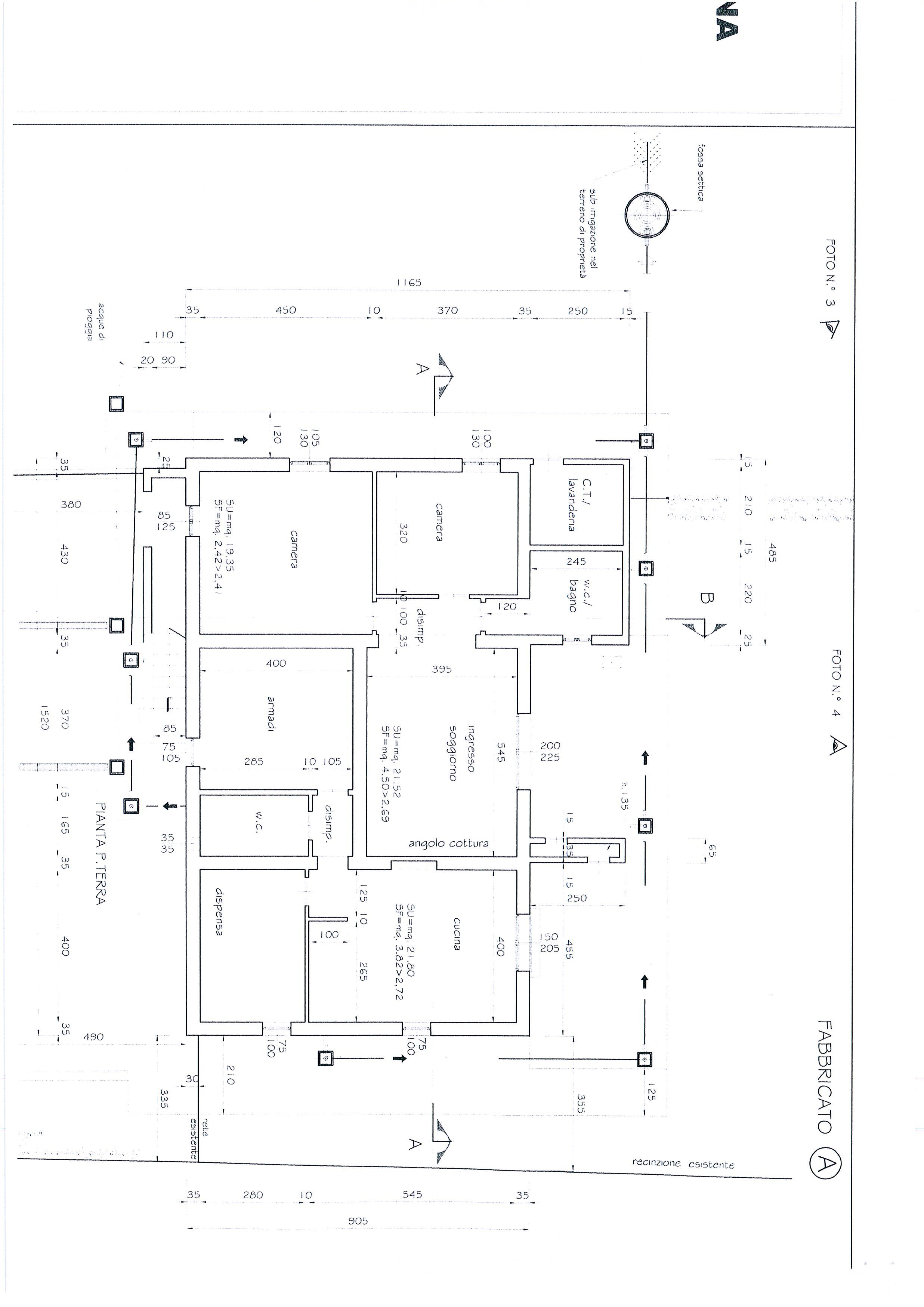 Planimetria /7 per rif. 1328a