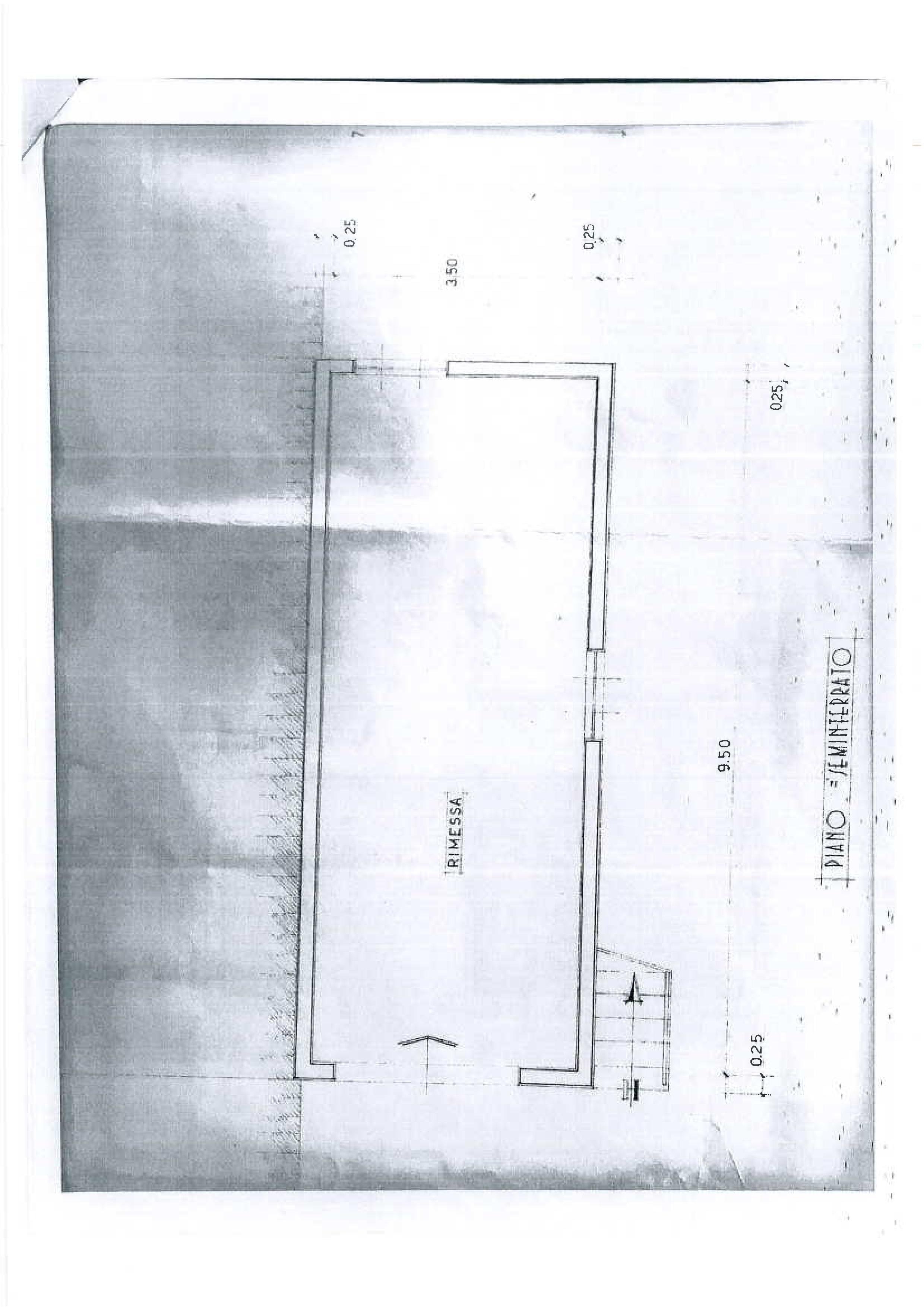 Planimetria 1/2 per rif. 1734a