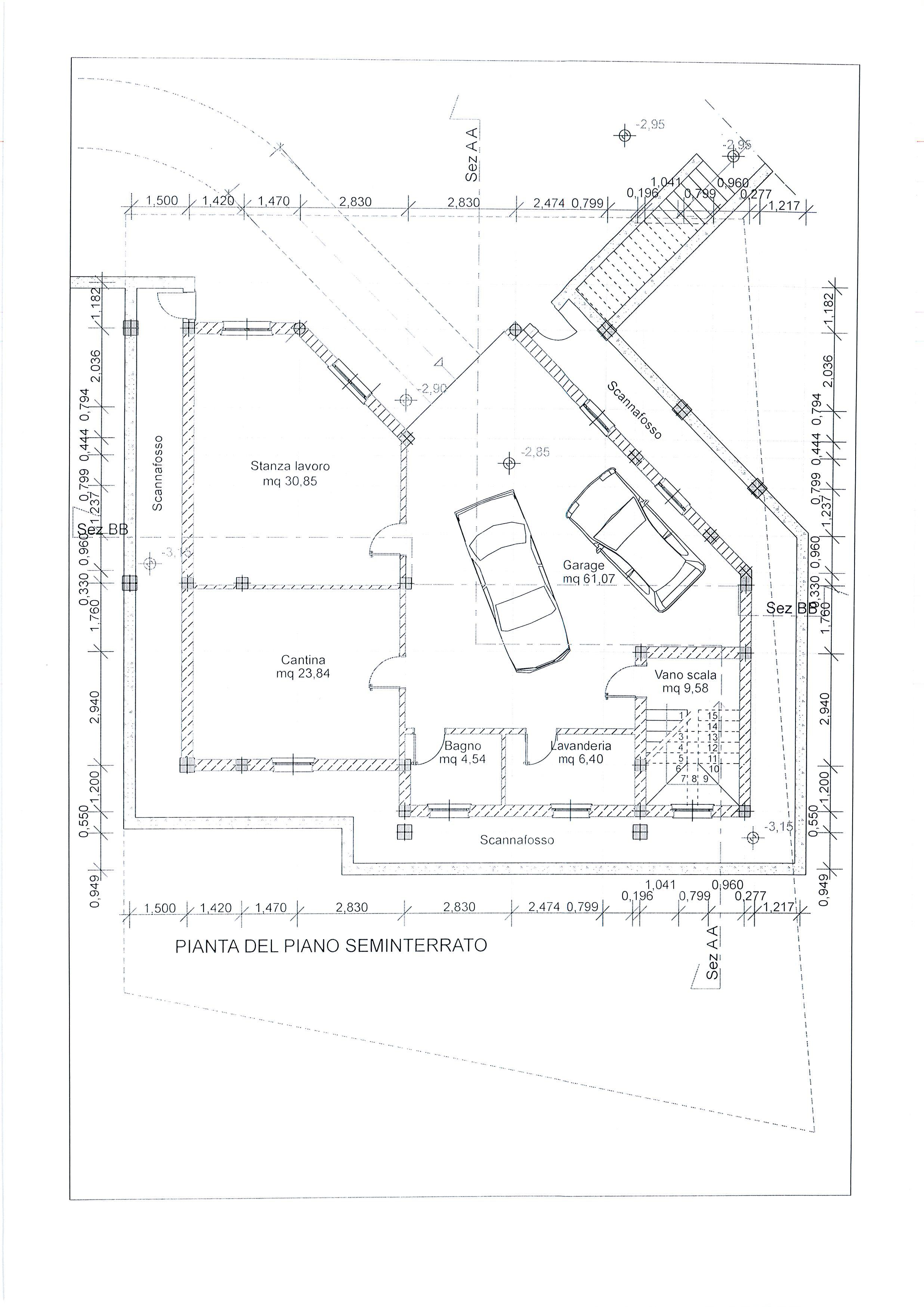 Planimetria 2/4 per rif. 1738a