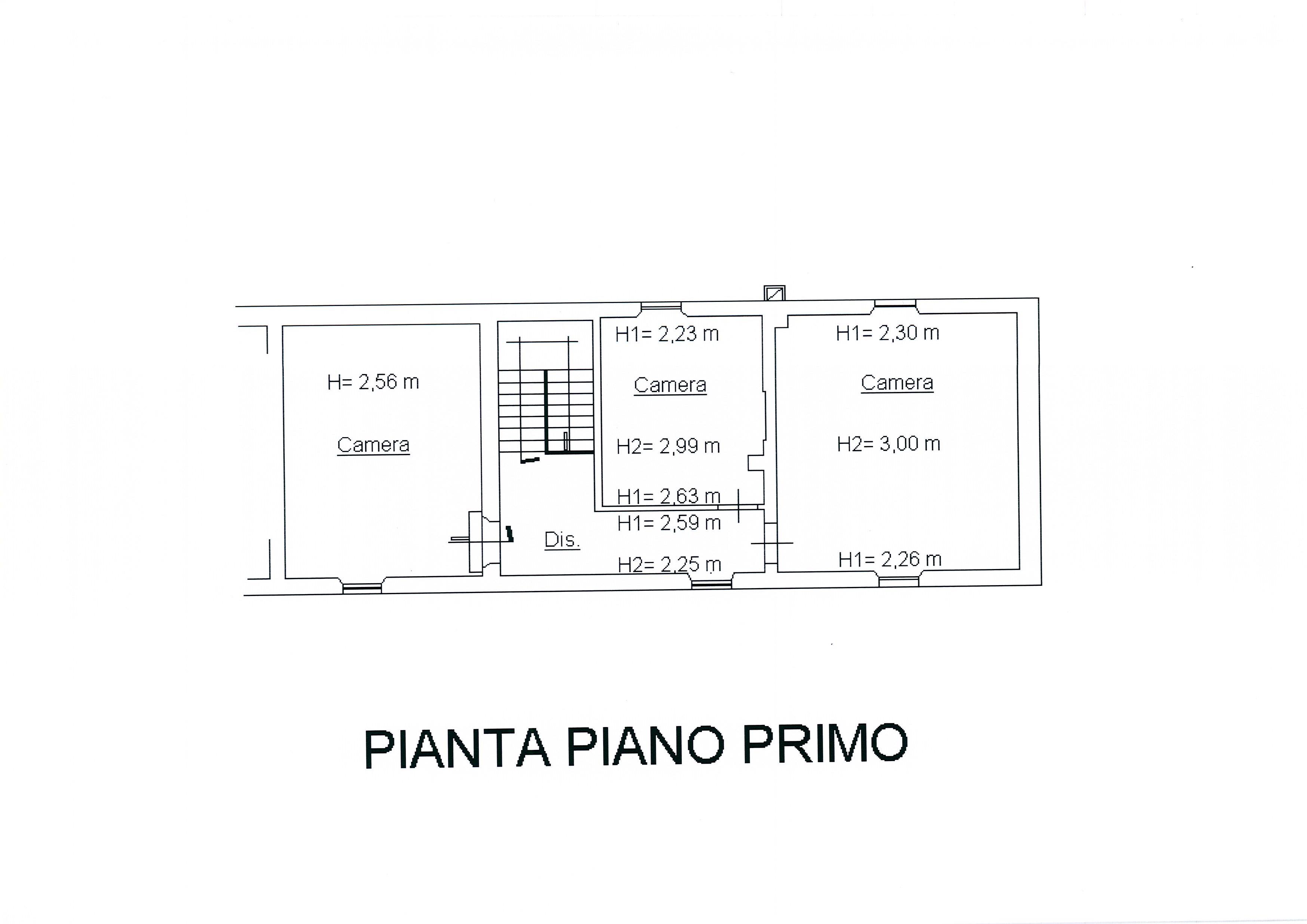 Planimetria 1/4 per rif. 1752a