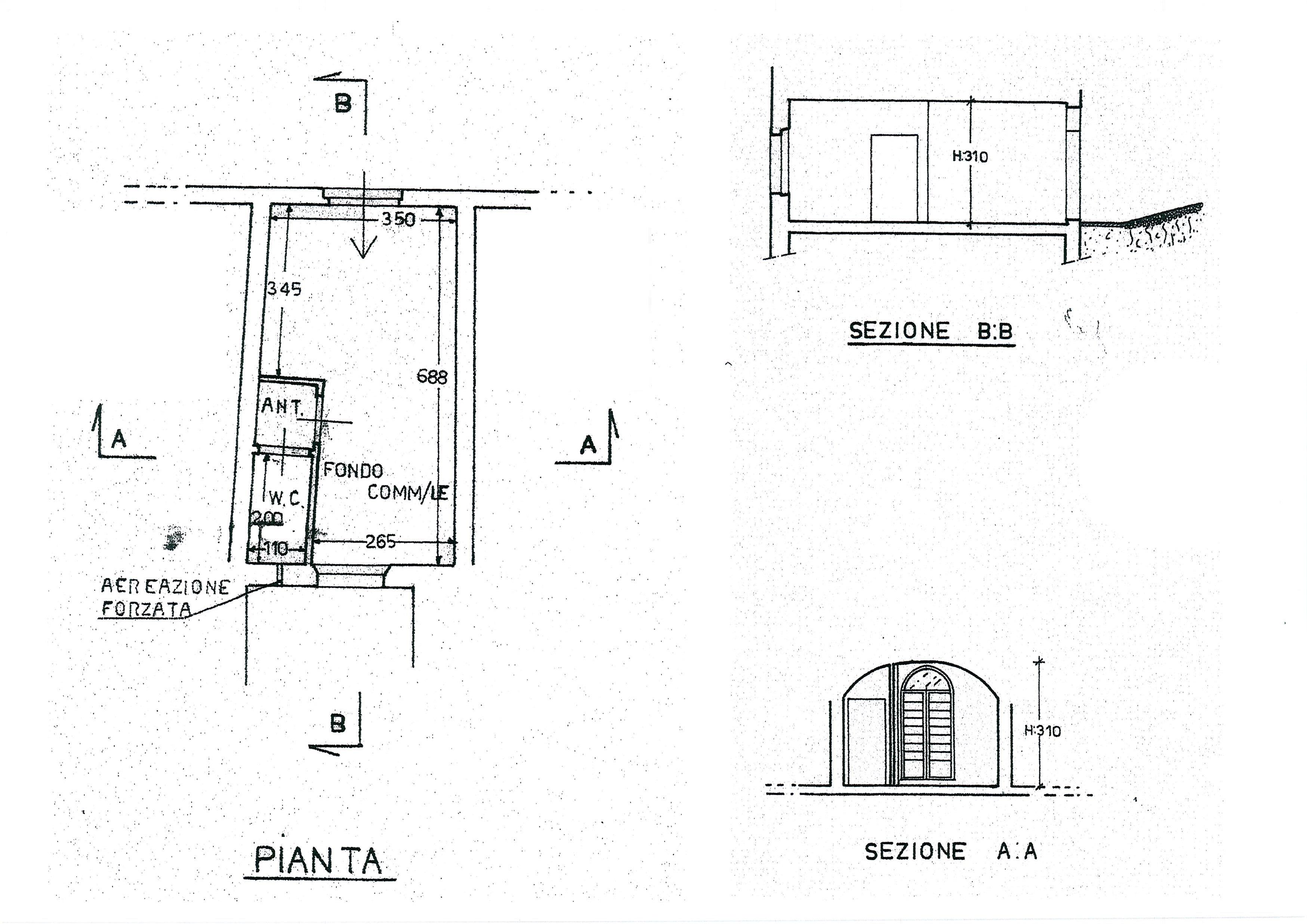 Planimetria /1 per rif. 1836a