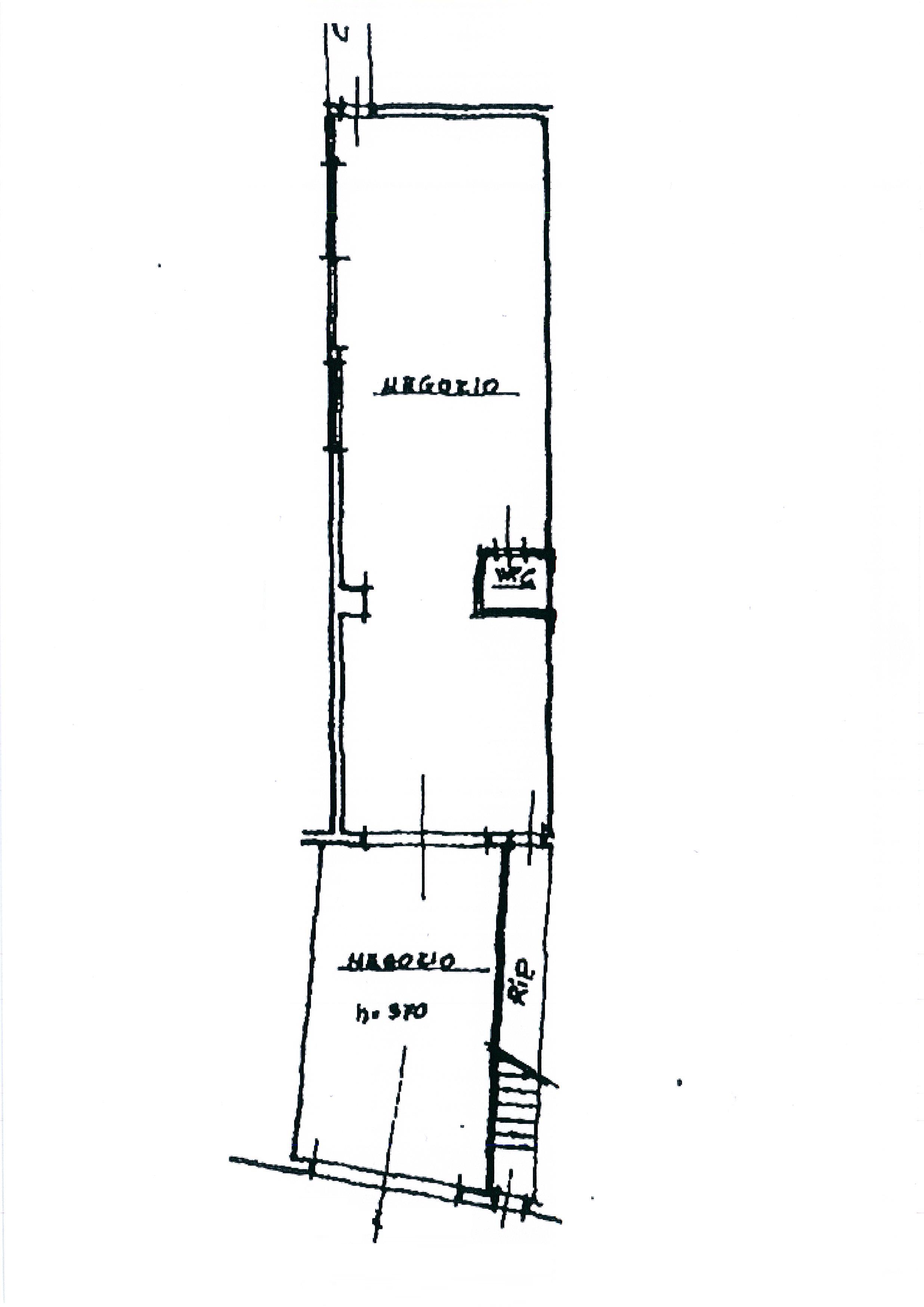 Planimetria 1/3 per rif. 1867a