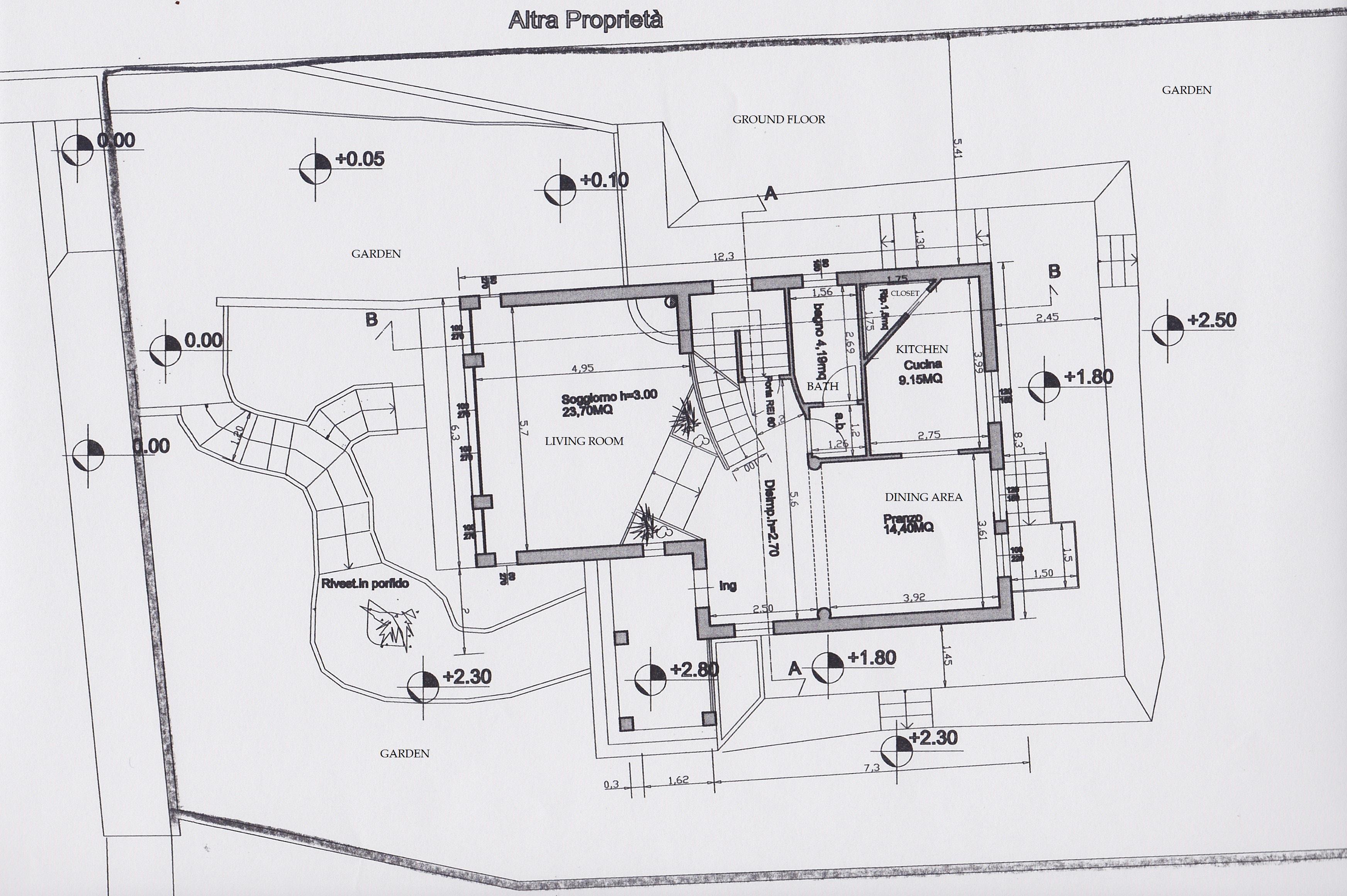 Planimetria 2/3 per rif. 2414a