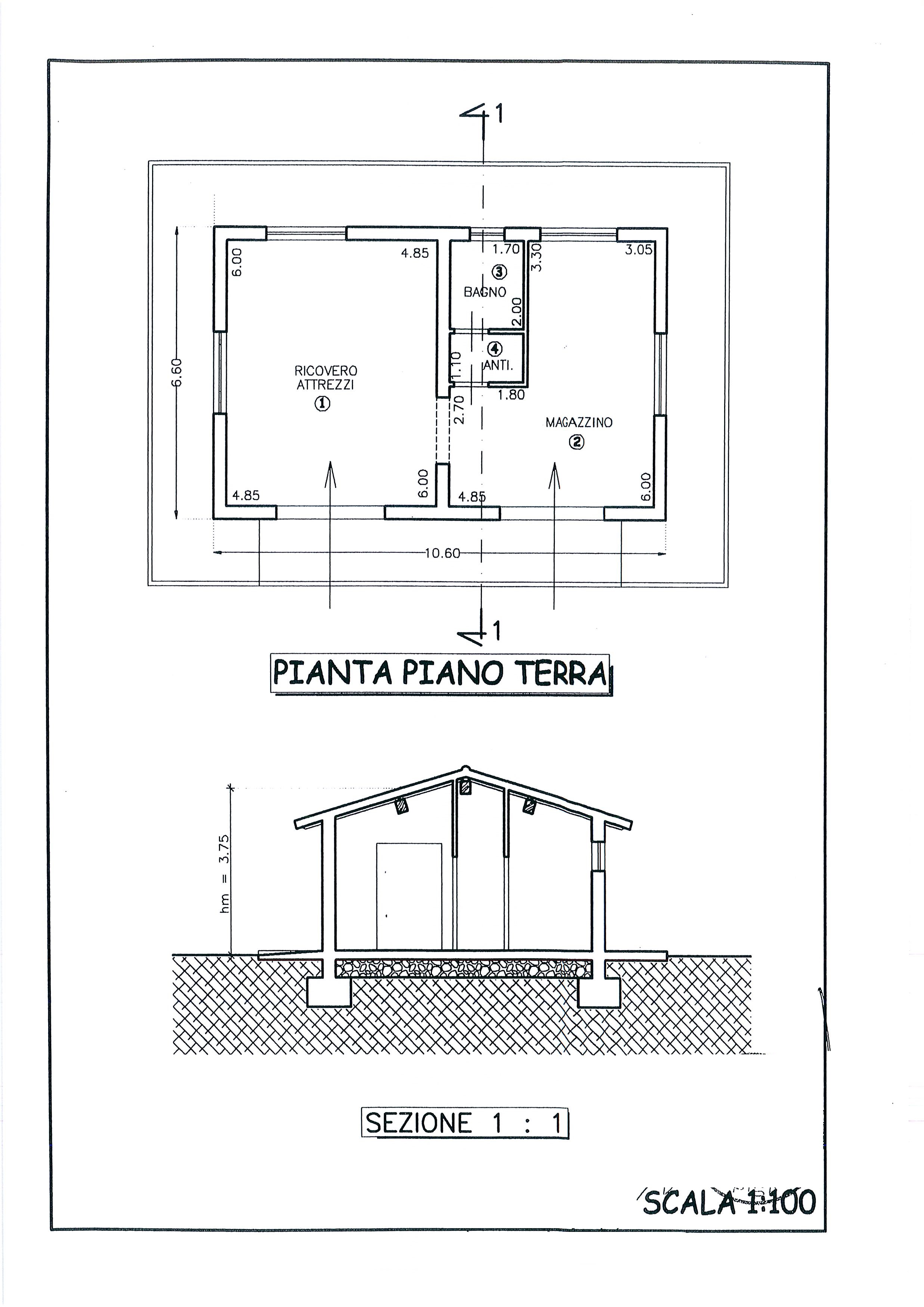 Planimetria /1 per rif. 1926a