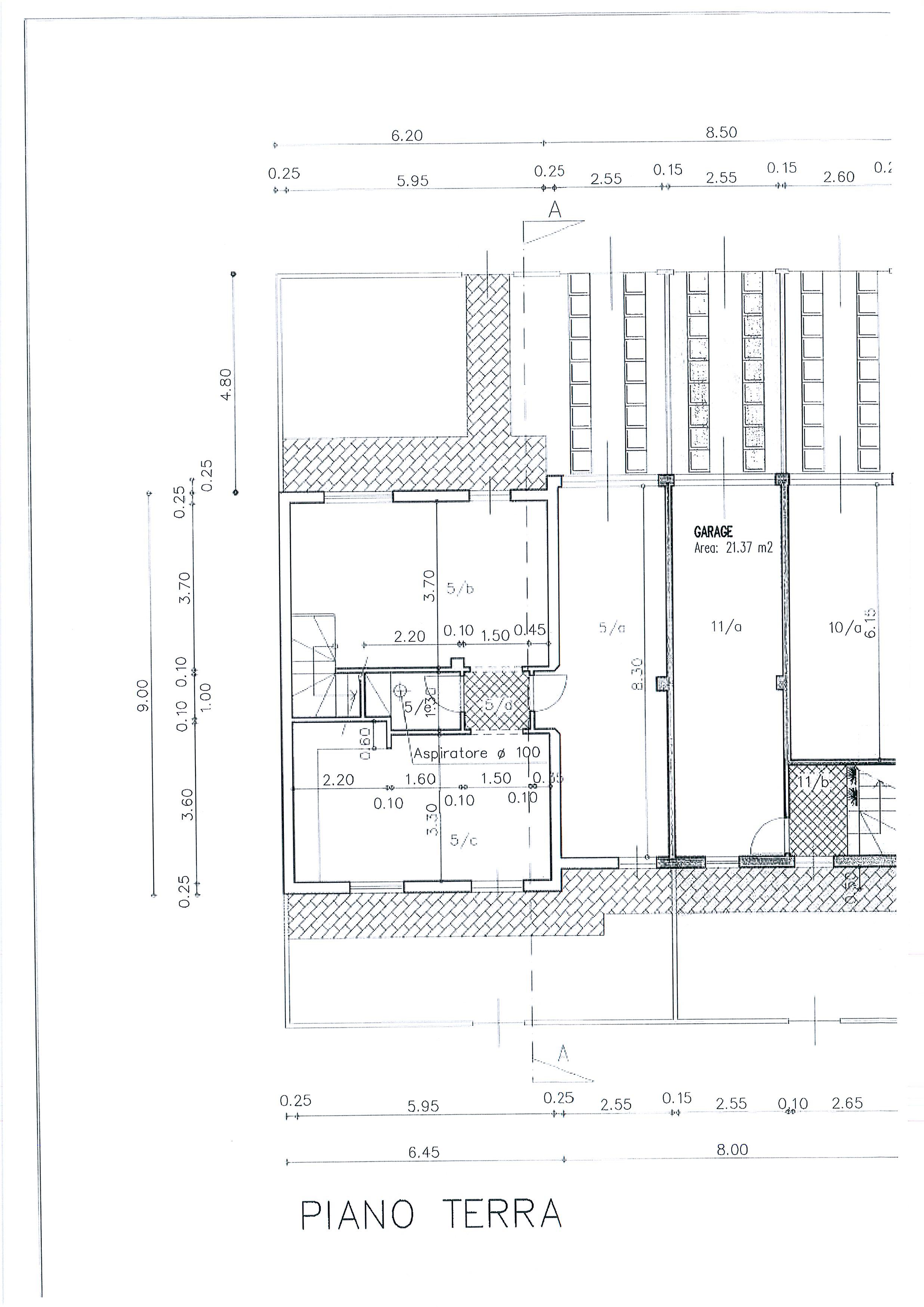 Planimetria 1/3 per rif. 1933a