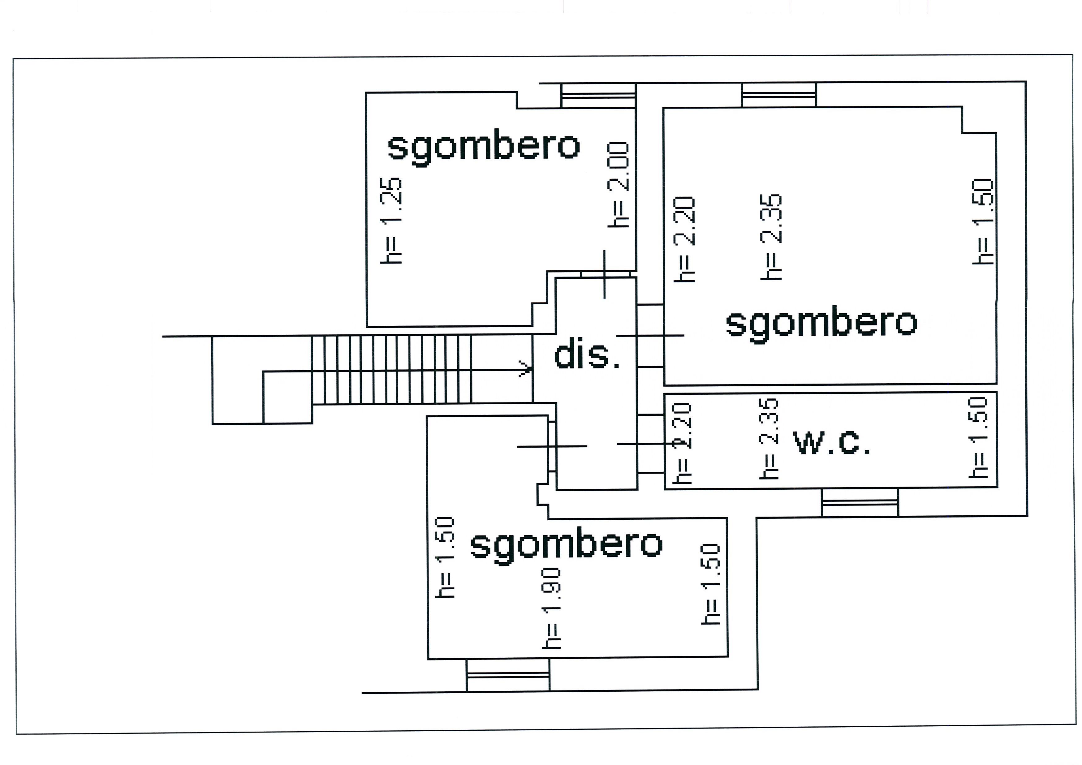 Planimetria 1/2 per rif. 1954a