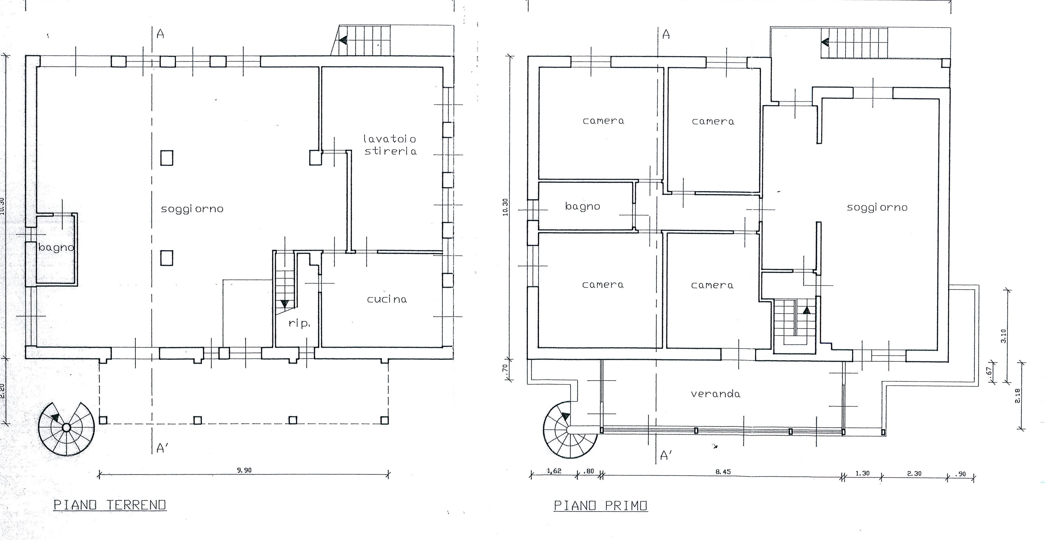 Planimetria /1 per rif. 1987a