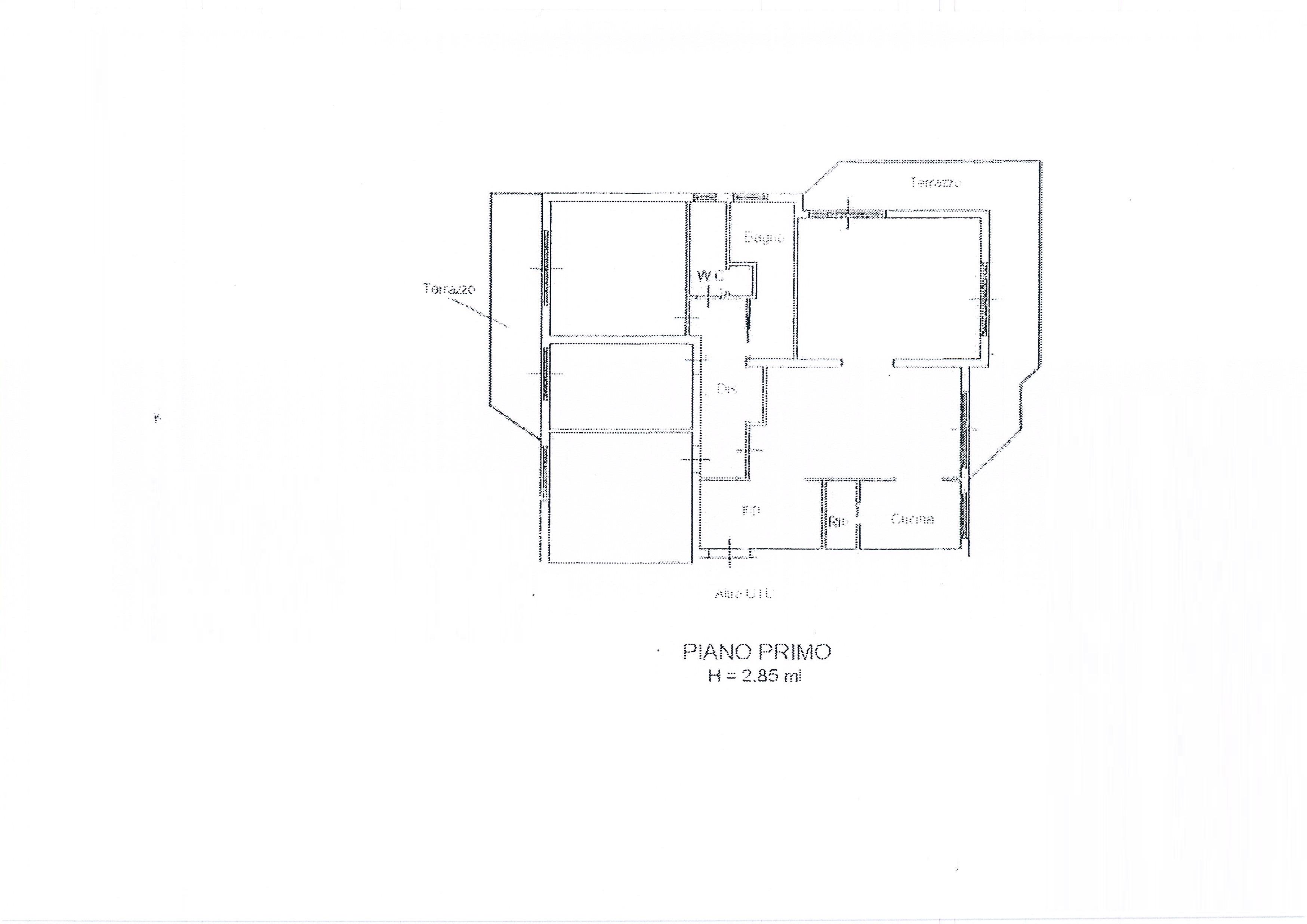 Planimetria 2/3 per rif. 1999a