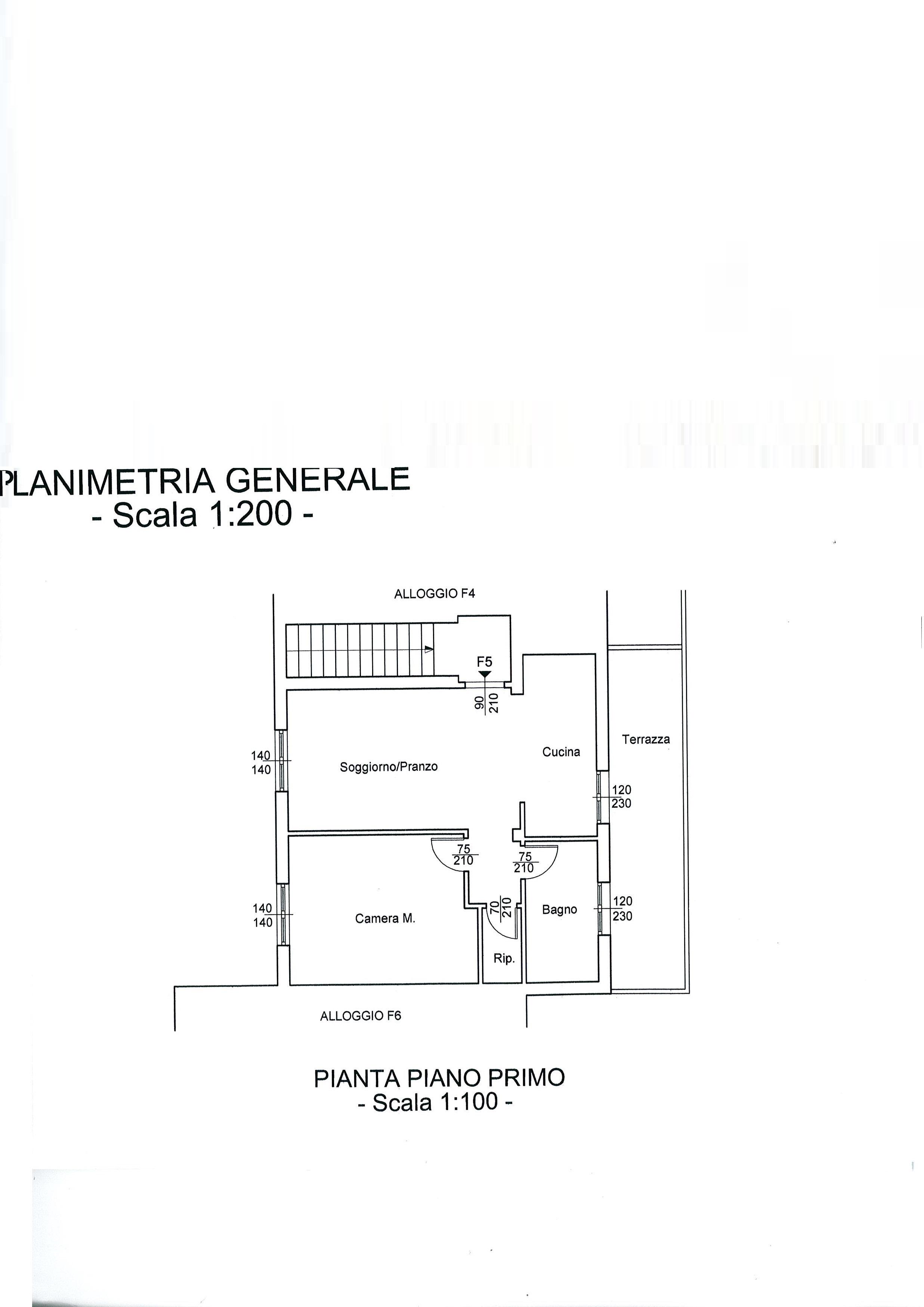 Planimetria 2/3 per rif. 2064a
