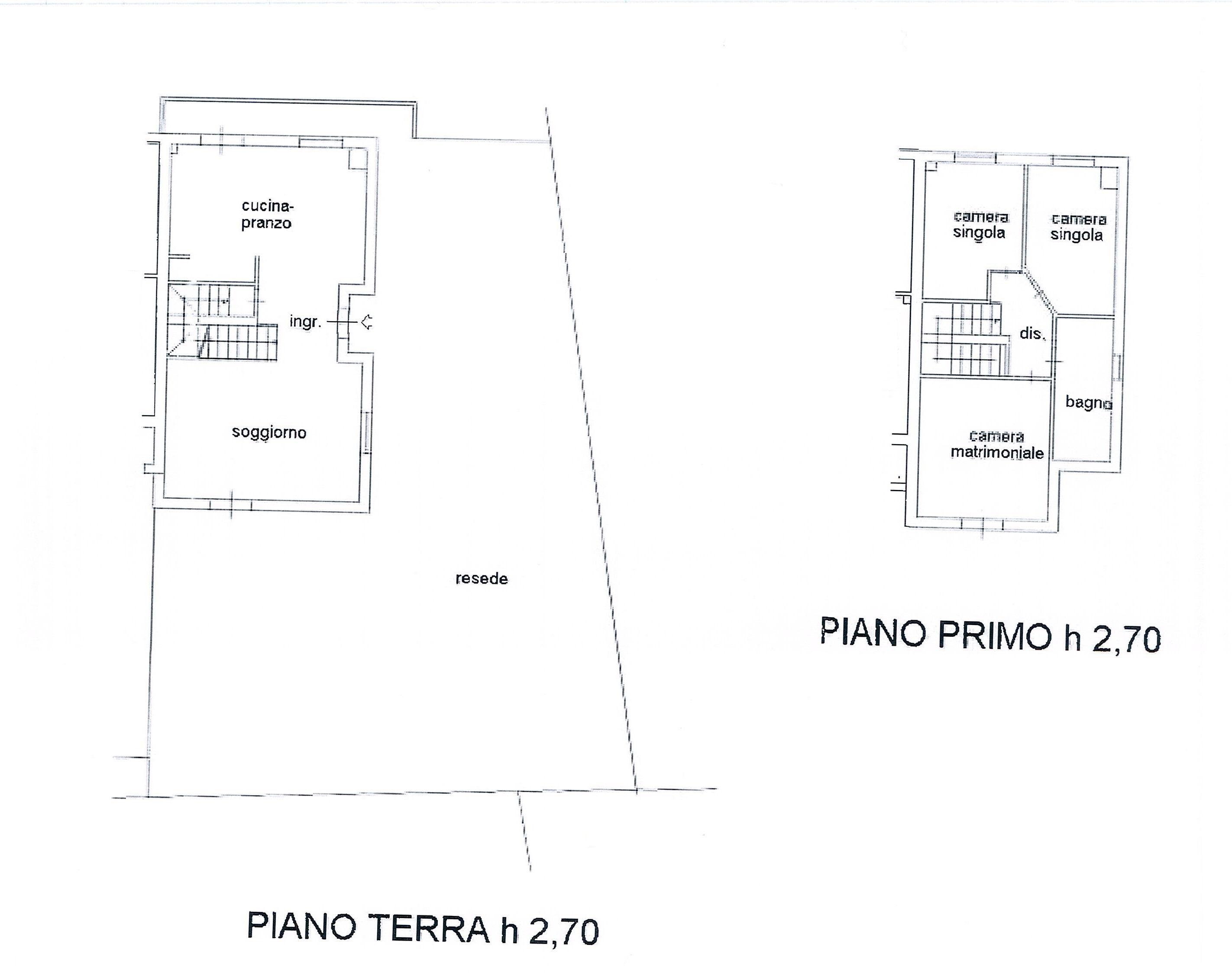 Planimetria 1/2 per rif. 2305a