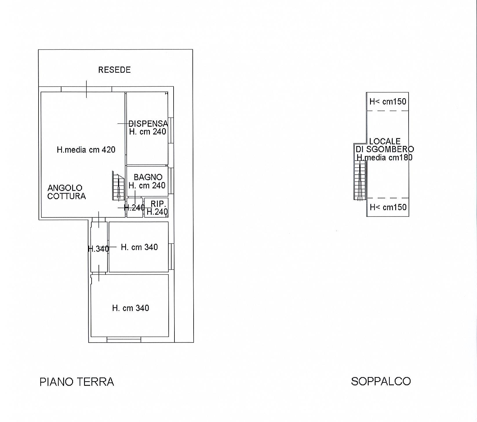 Planimetria 1/1 per rif. 2496a