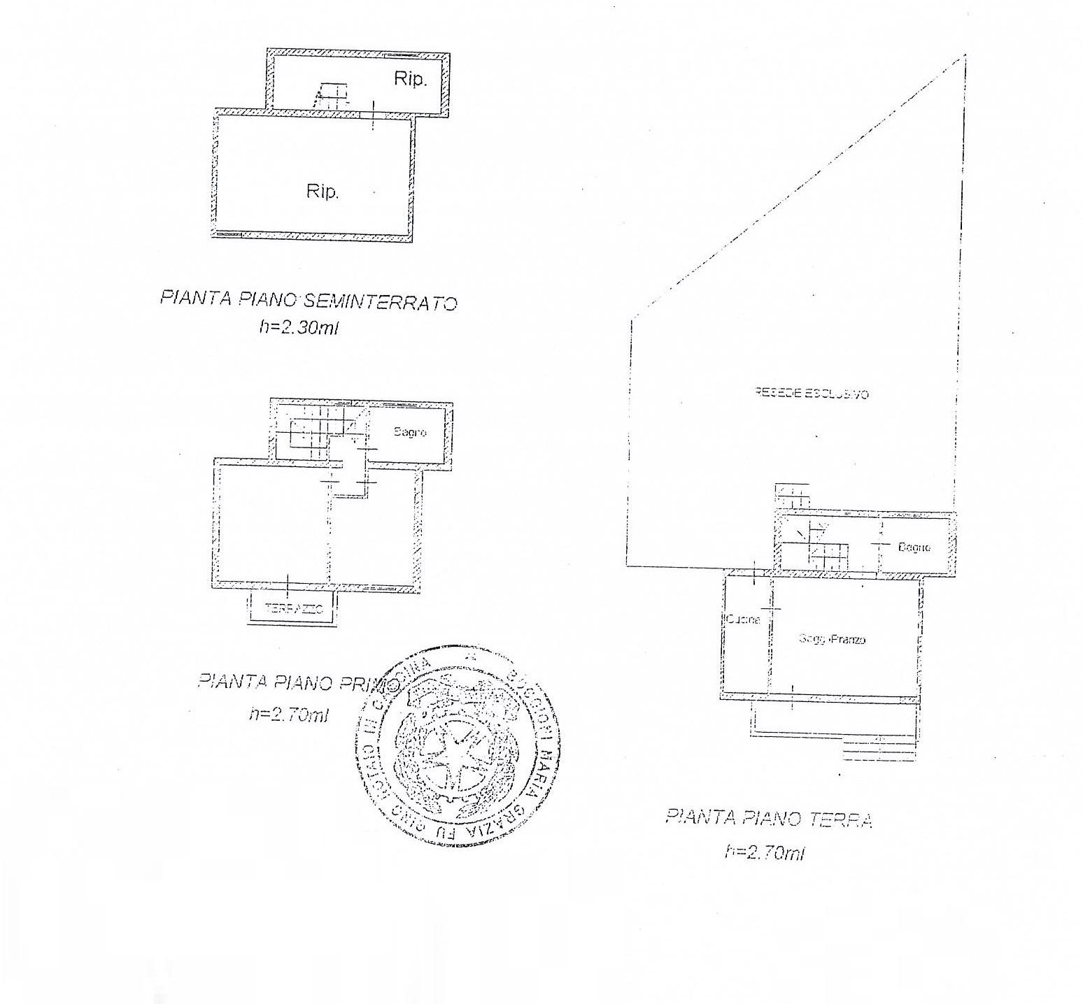Planimetria 1/2 per rif. 2374a