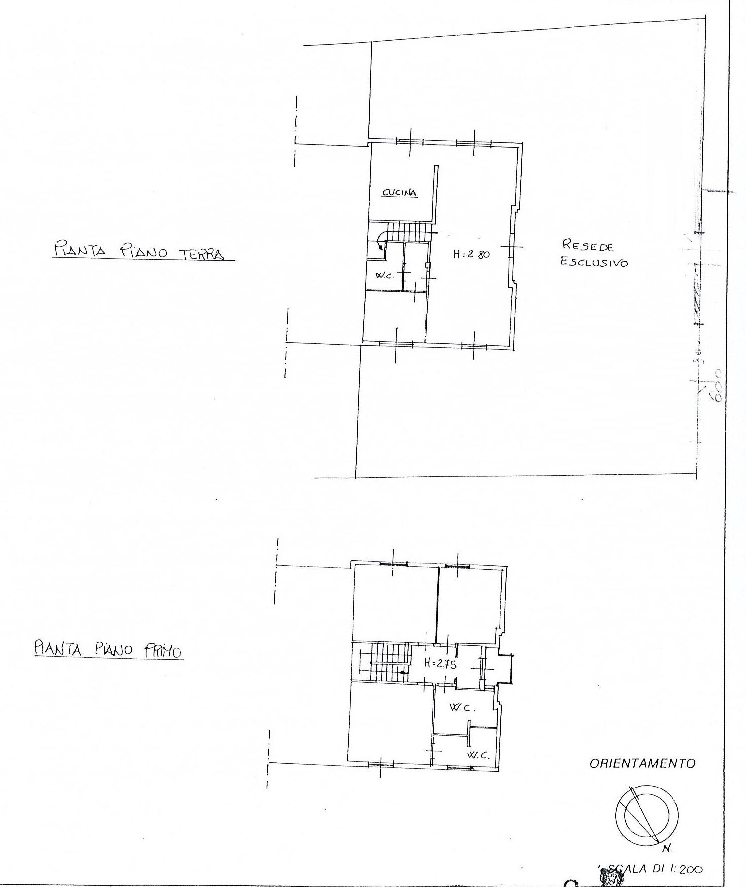 Planimetria 1/1 per rif. 2499a