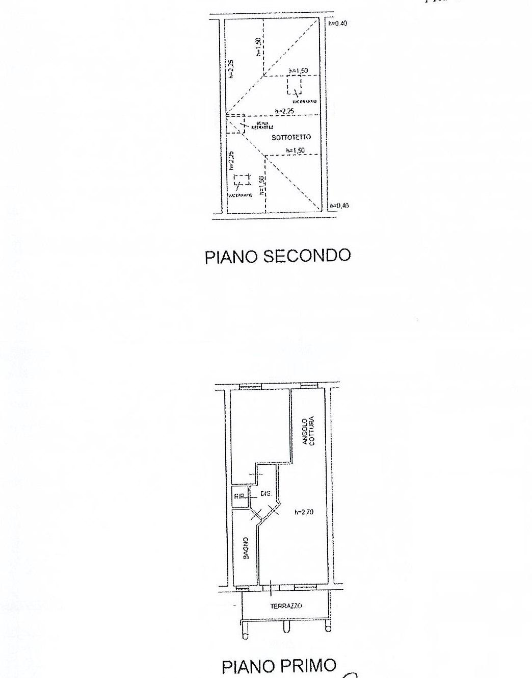 Planimetria 1/2 per rif. 2594a