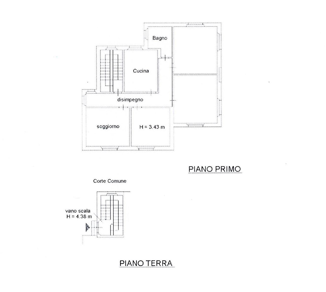 Planimetria 1/2 per rif. 2596a