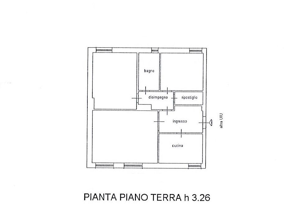 Planimetria 1/3 per rif. 2611a