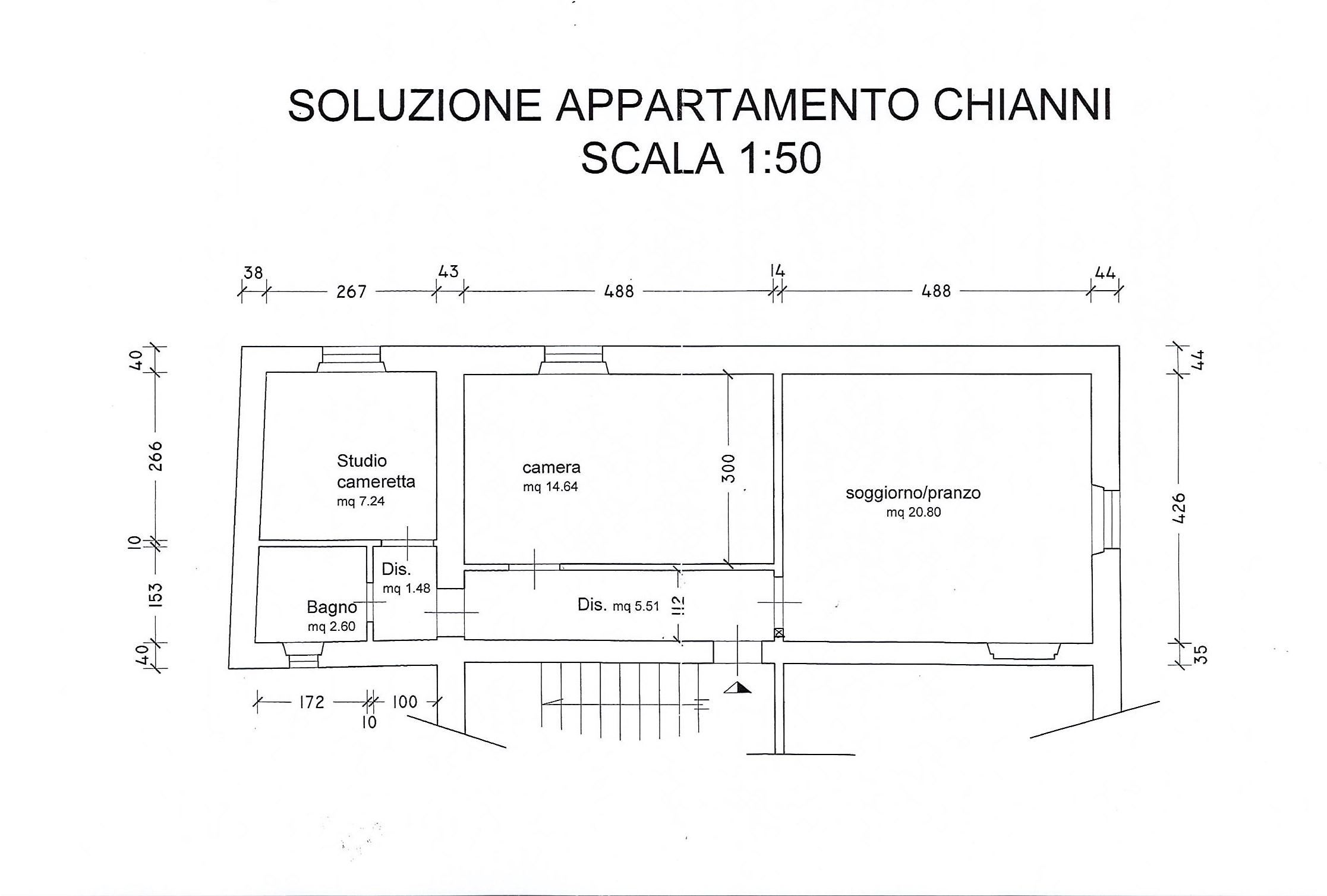 Planimetria 1/1 per rif. 2663a
