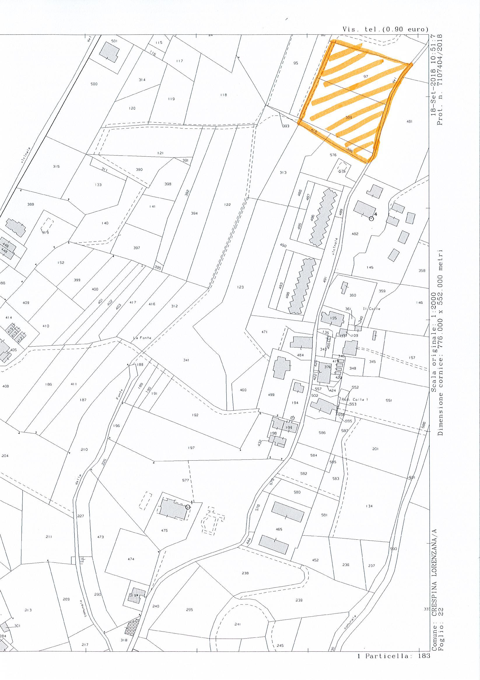 Planimetria 1/1 per rif. 2729a